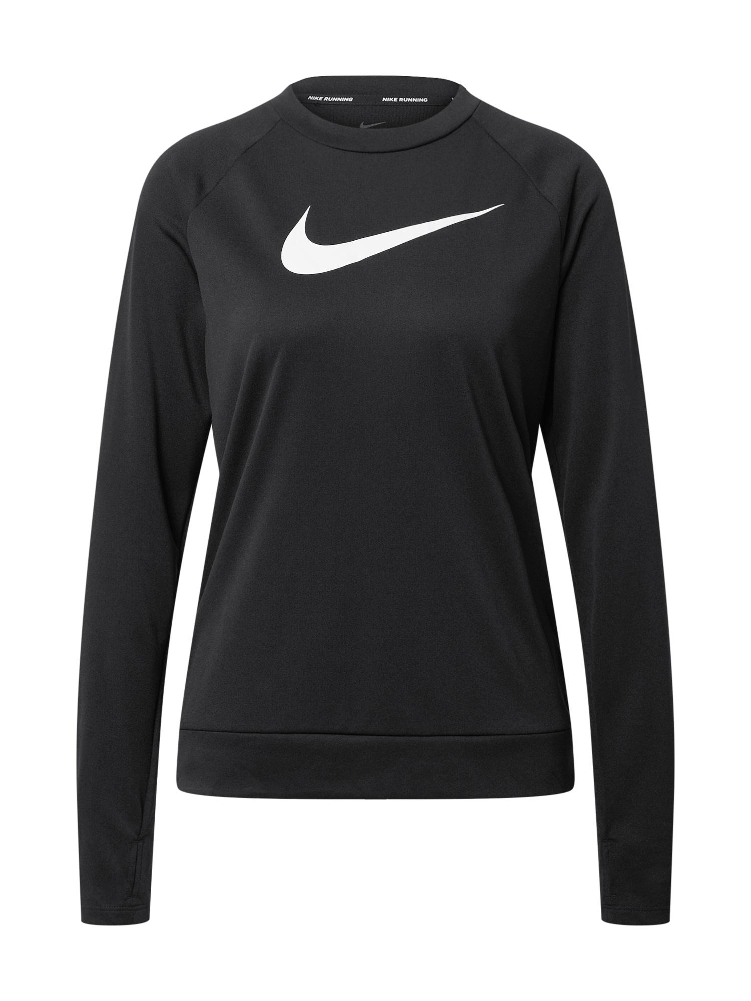 NIKE Funkčné tričko 'Swoosh'  biela / čierna