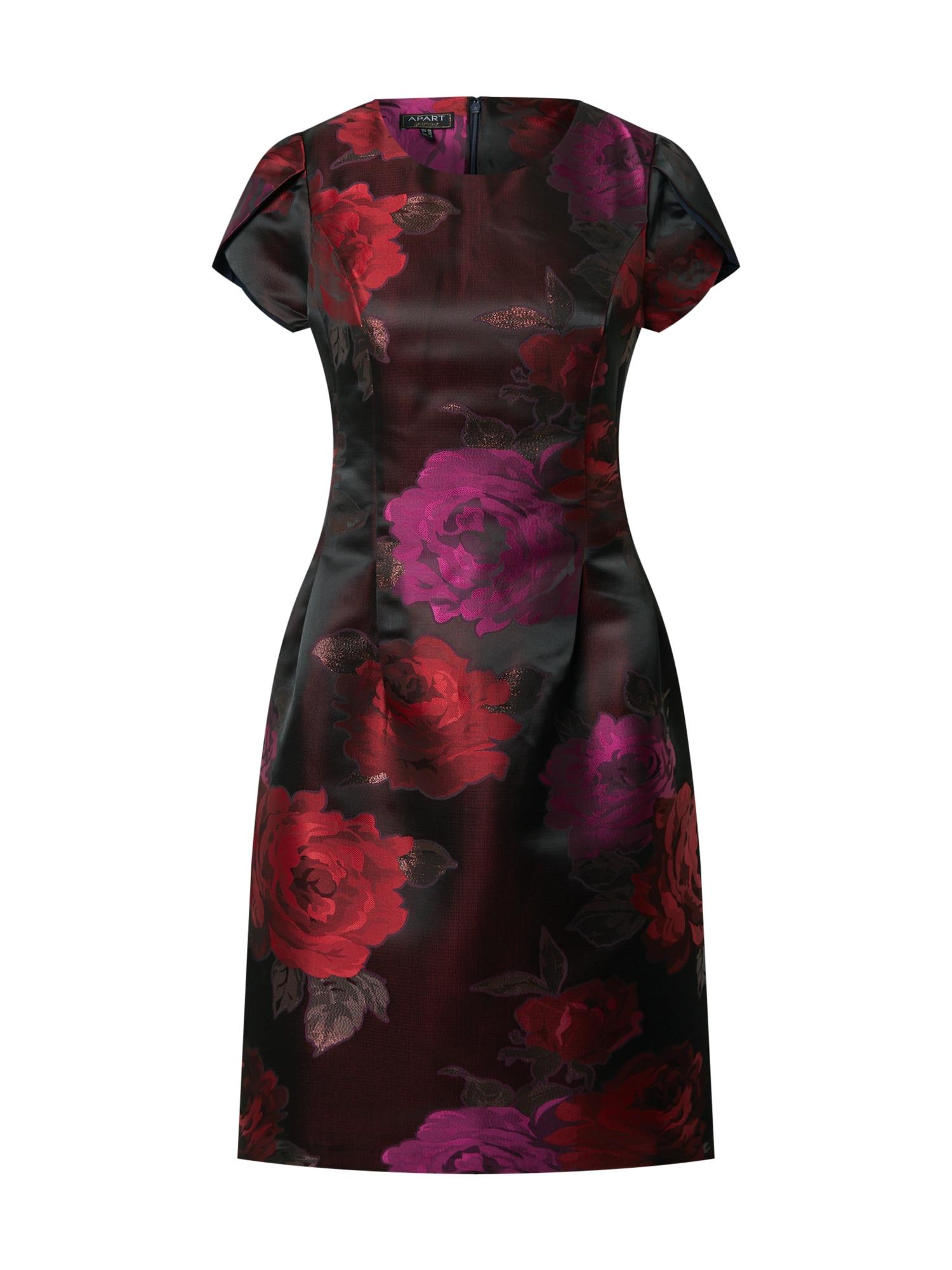 APART Suknelė mišrios spalvos / vyšninė spalva