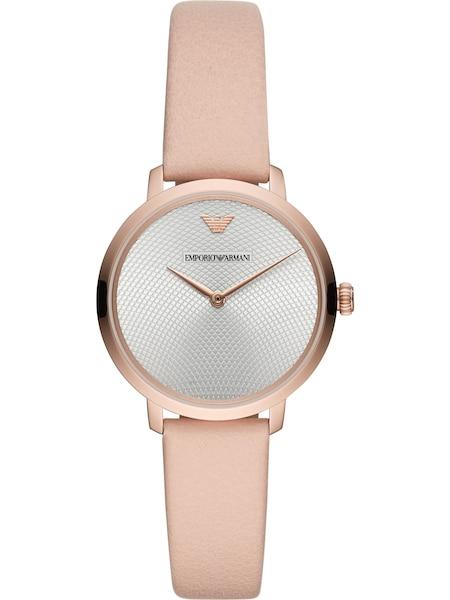 Uhren für Frauen - Emporio Armani Damenuhr beige silber  - Onlineshop ABOUT YOU