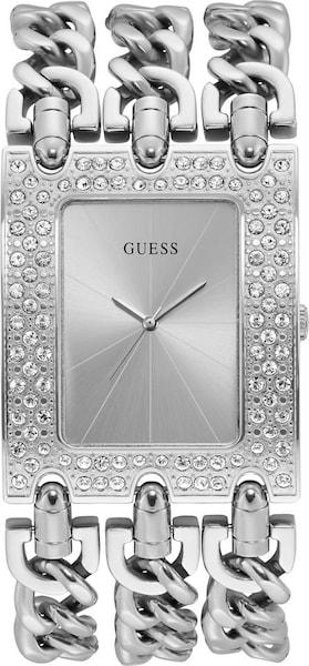 Uhren für Frauen - Quarzuhr 'Heavy Metal, W1275L1' › Guess › silber  - Onlineshop ABOUT YOU