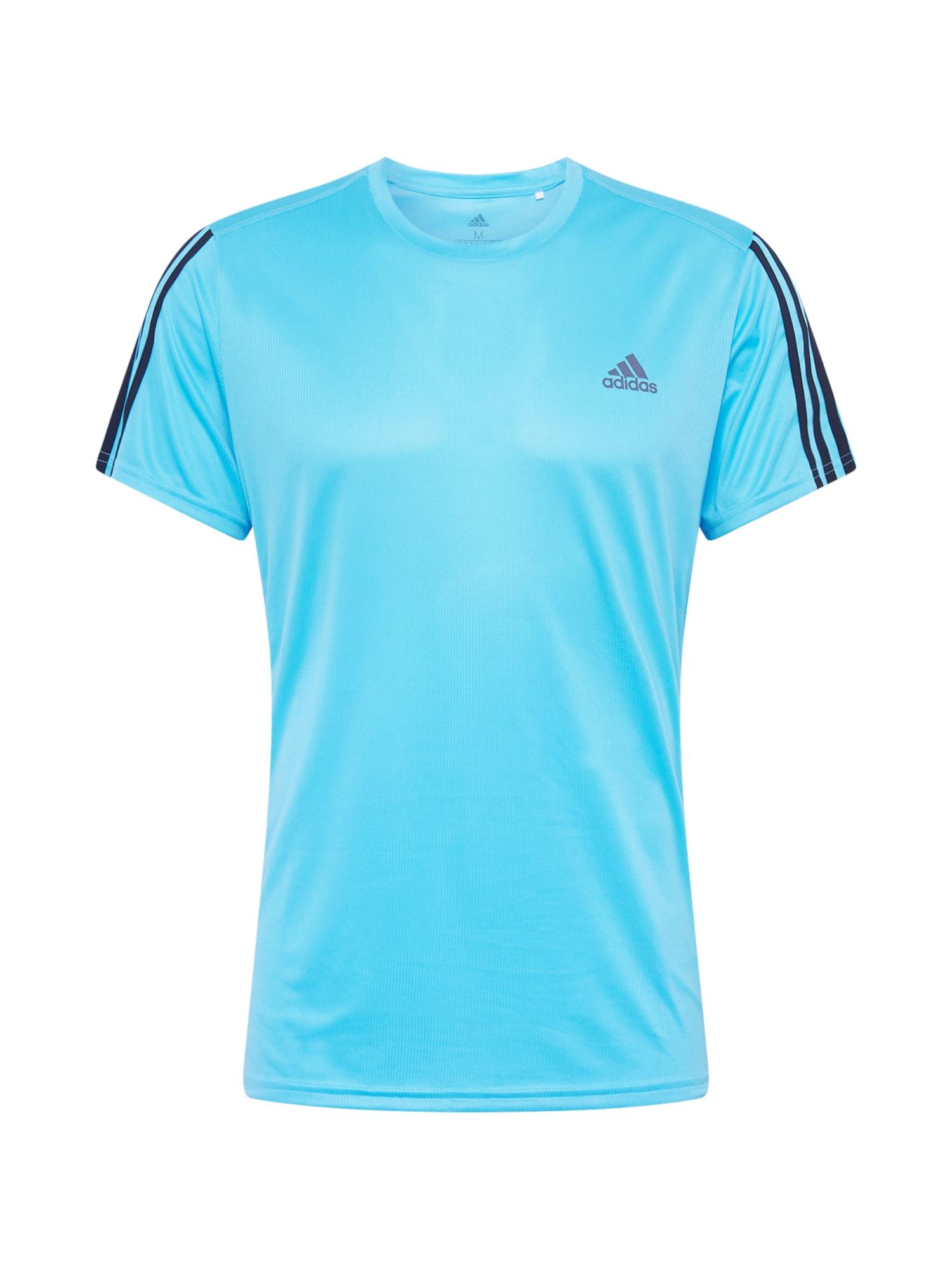 ADIDAS PERFORMANCE Funkční tričko 'Run 3S M'  azurová modrá / tmavě modrá