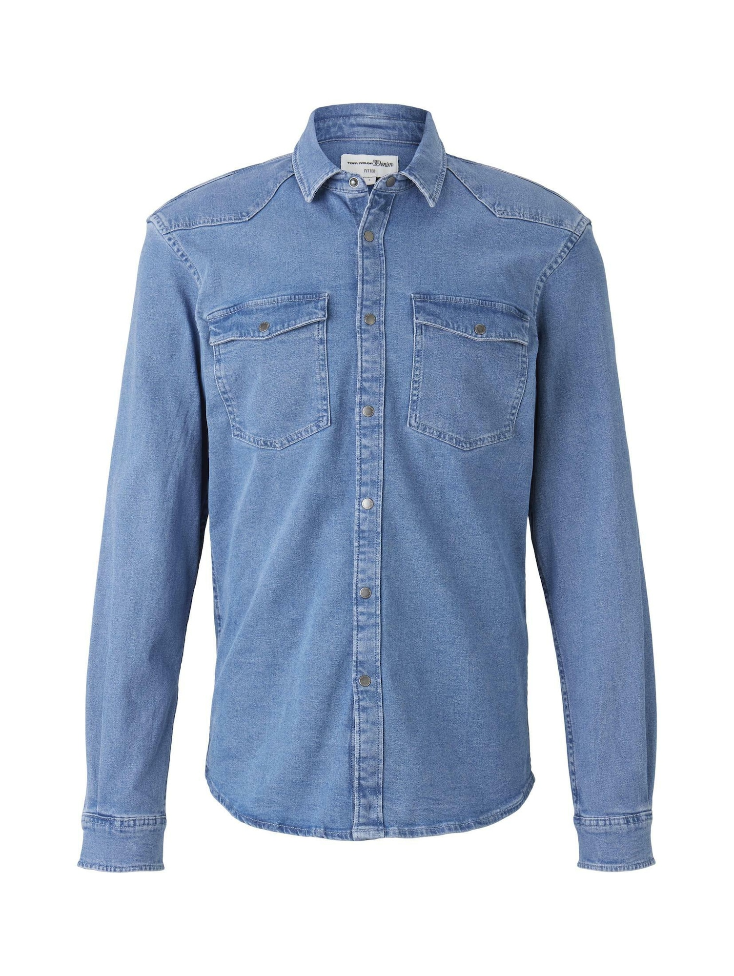TOM TAILOR DENIM Dalykiniai marškiniai tamsiai (džinso) mėlyna