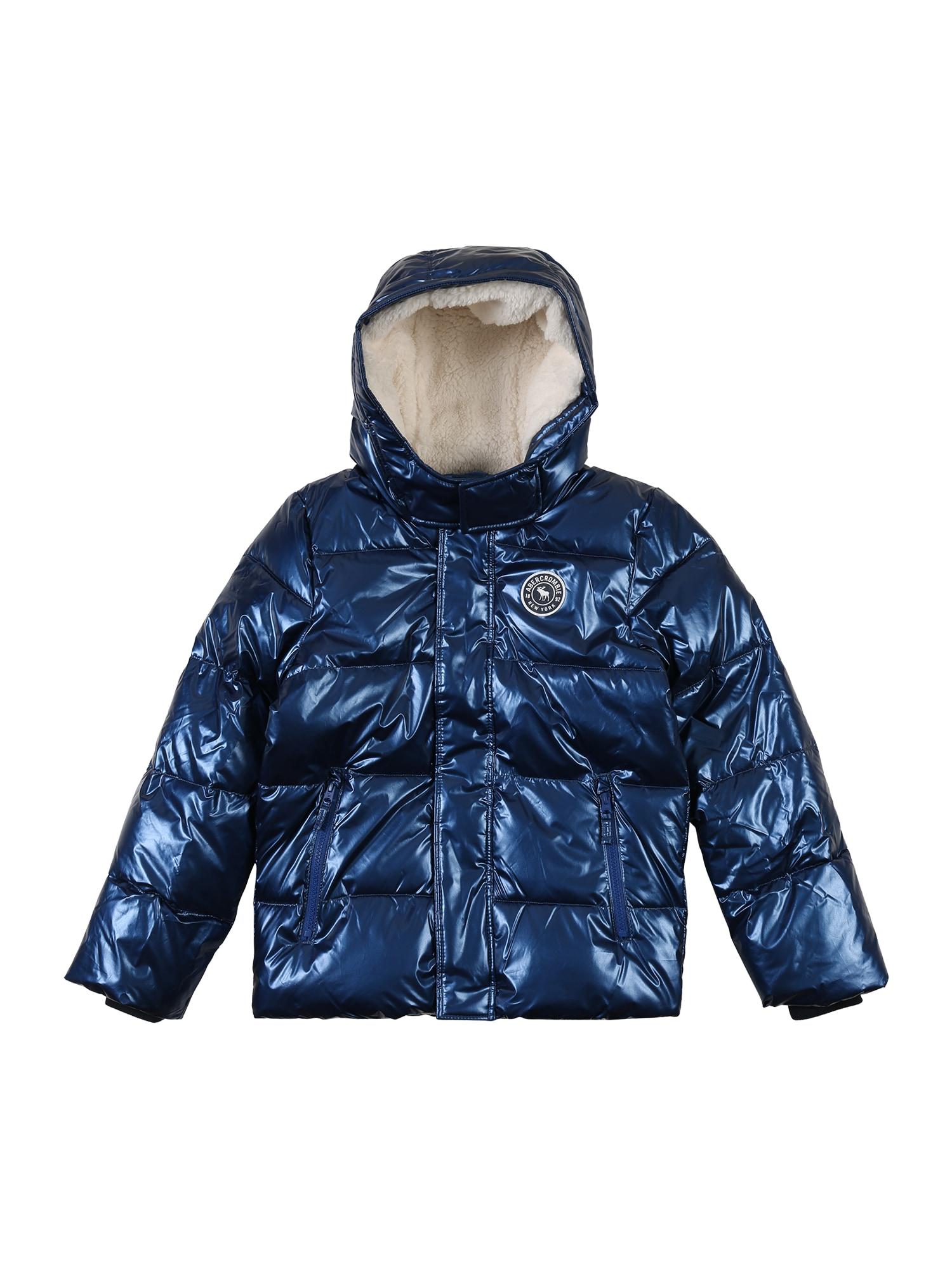 Abercrombie & Fitch Žieminė striukė mėlyna