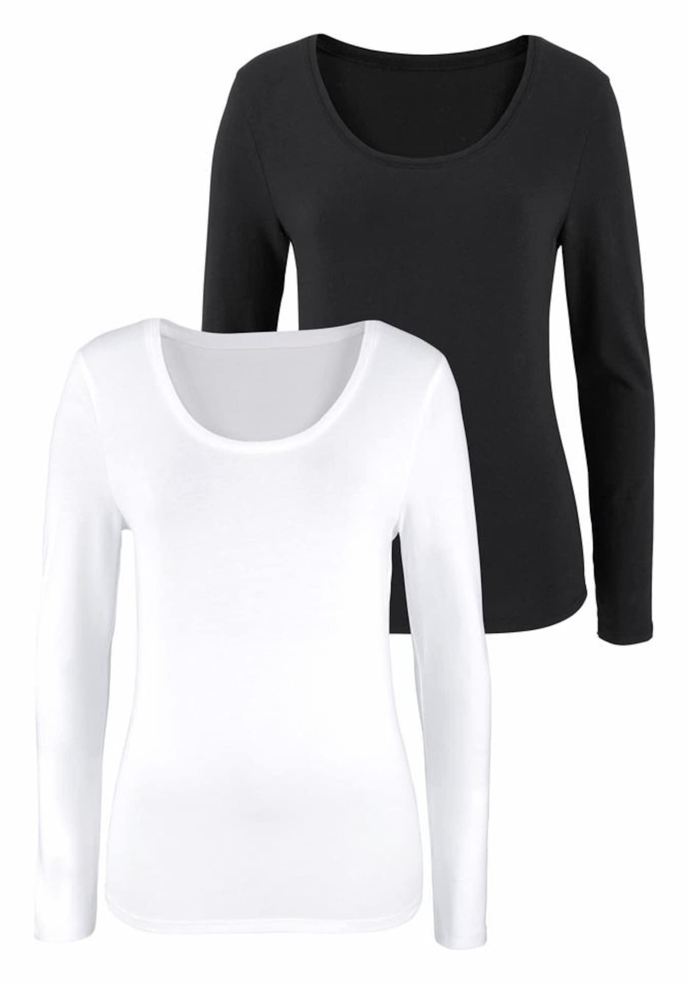 VIVANCE Marškinėliai balta / juoda