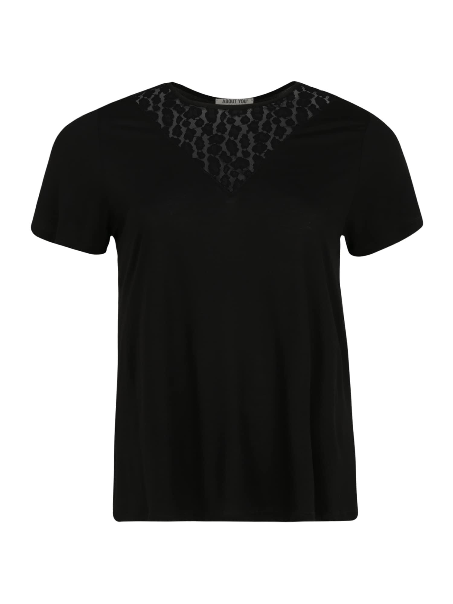 ABOUT YOU Curvy Marškinėliai 'Erin' juoda