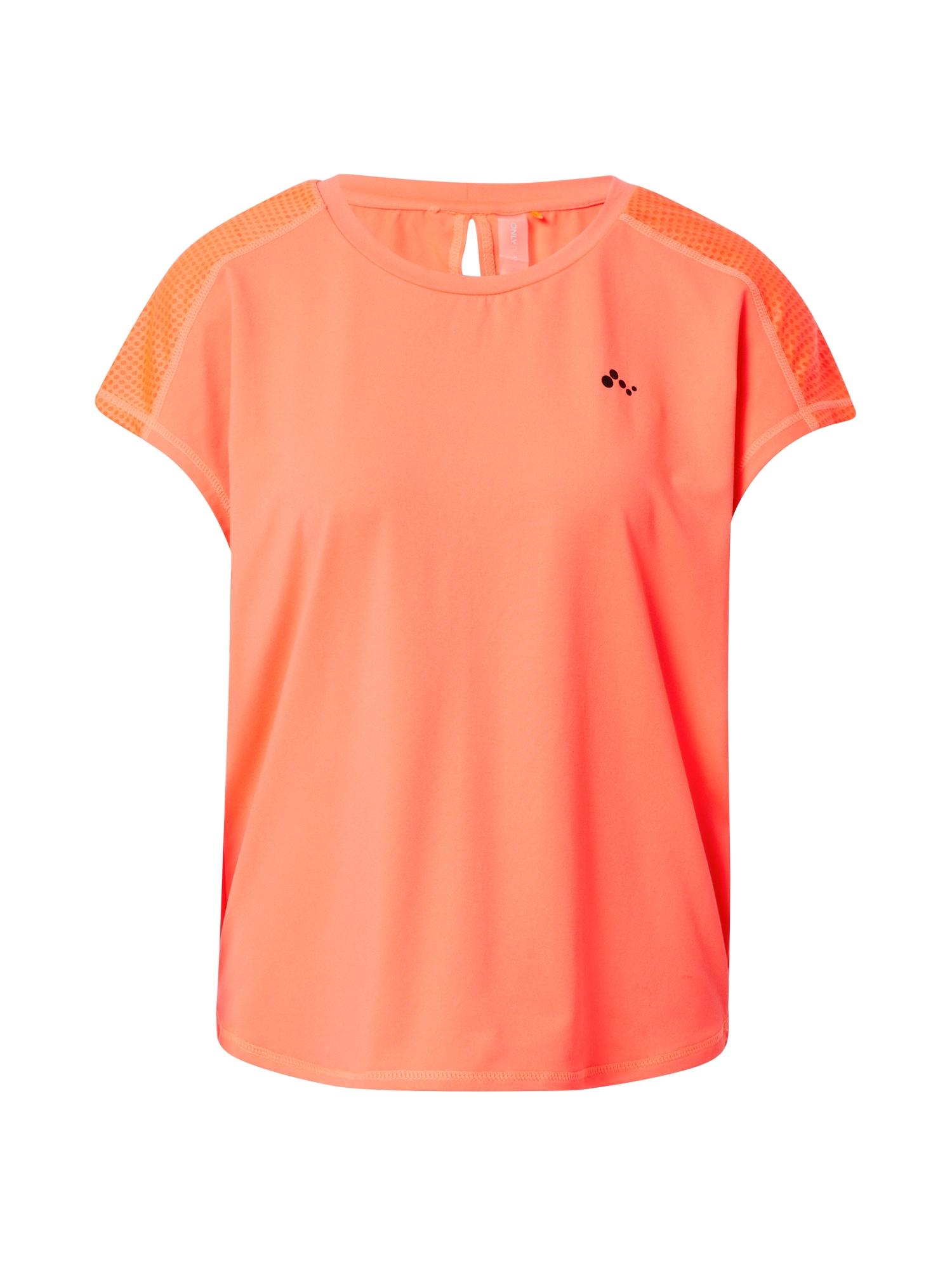 ONLY PLAY Sportiniai marškinėliai koralų splava / pastelinė oranžinė