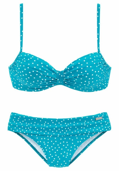 Bademode - Bügel Bikini › Lascana › neonblau weiß  - Onlineshop ABOUT YOU