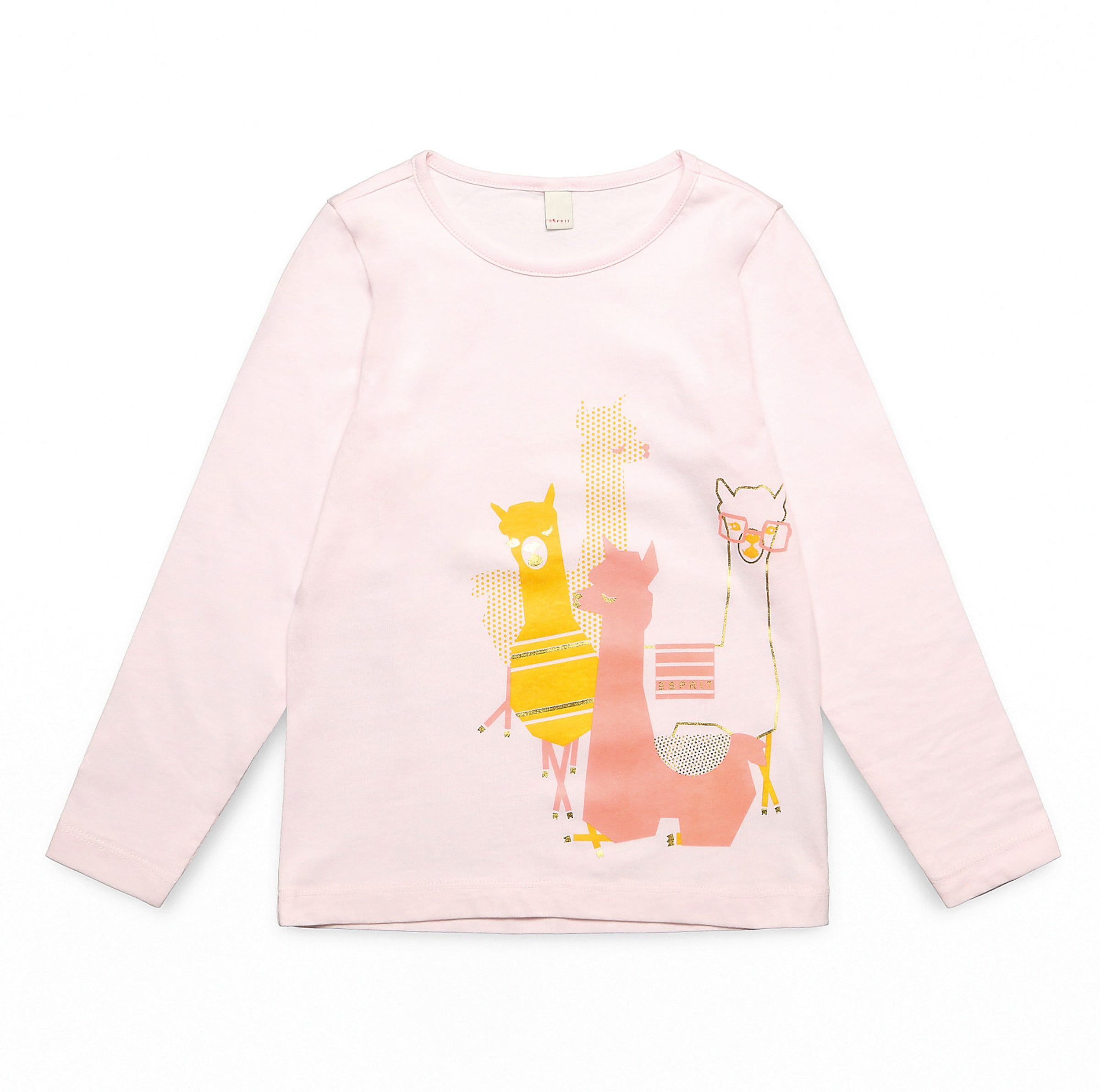 Kinder,  Mädchen,  Kinder Esprit Shirt braun, gold,  orange,  pink, khaki | 03663760992540