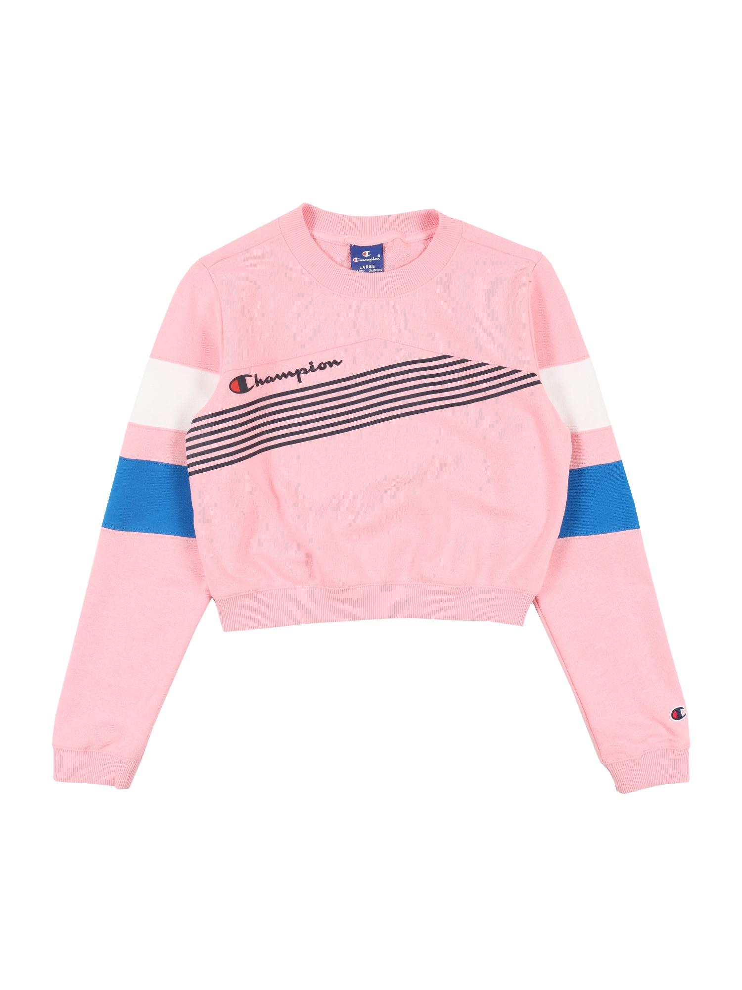 Champion Authentic Athletic Apparel Megztinis be užsegimo rožių spalva / juoda / mėlyna / balta