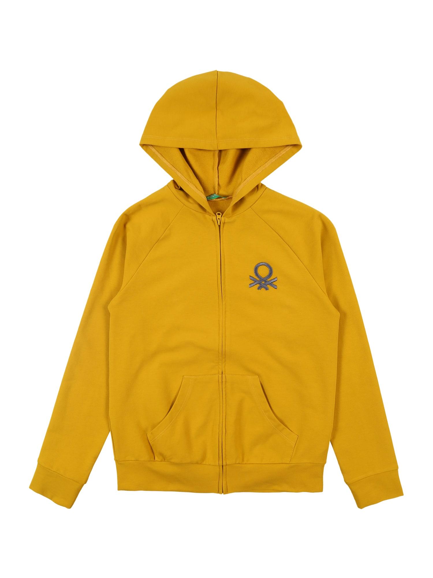 UNITED COLORS OF BENETTON Mikina s kapucí  zlatá