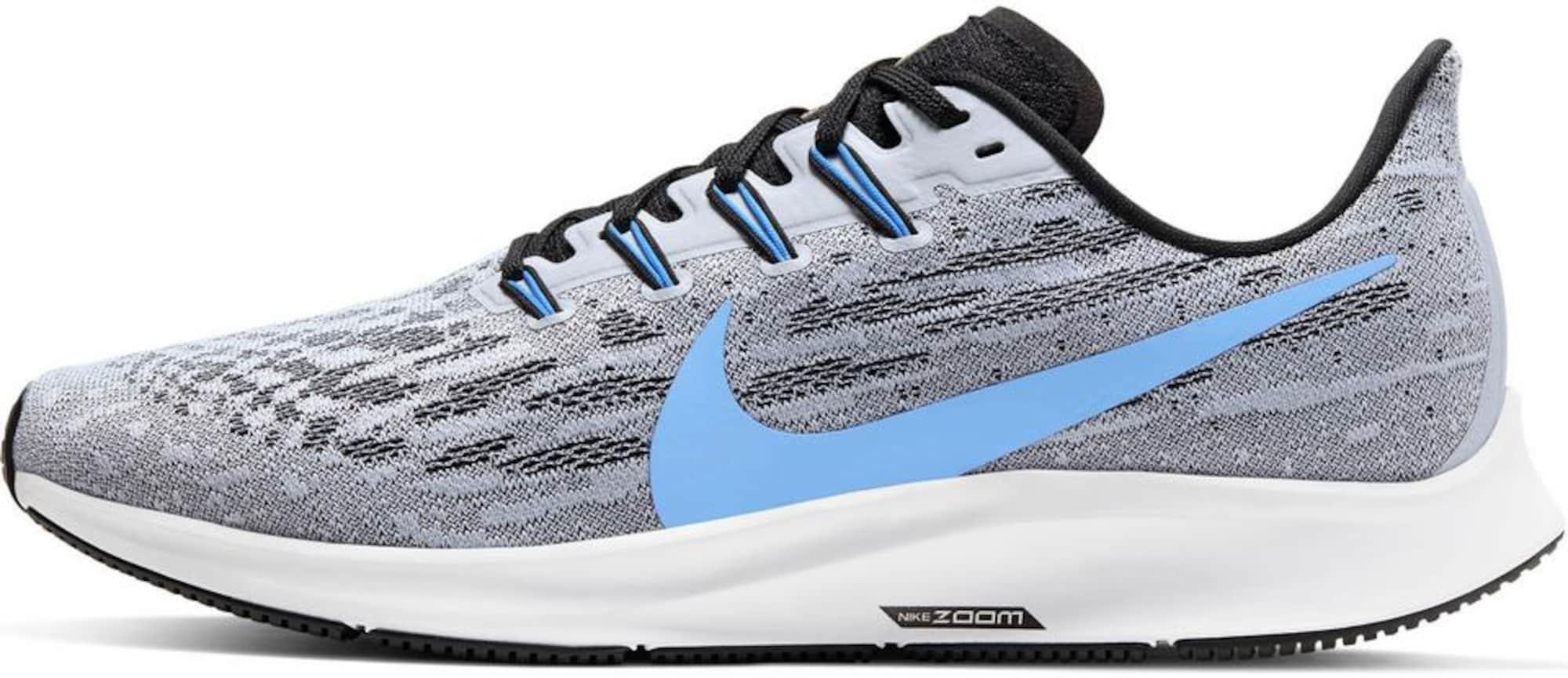 NIKE Bėgimo batai 'Pegasus 36' melsvai pilka / mėlyna dūmų spalva