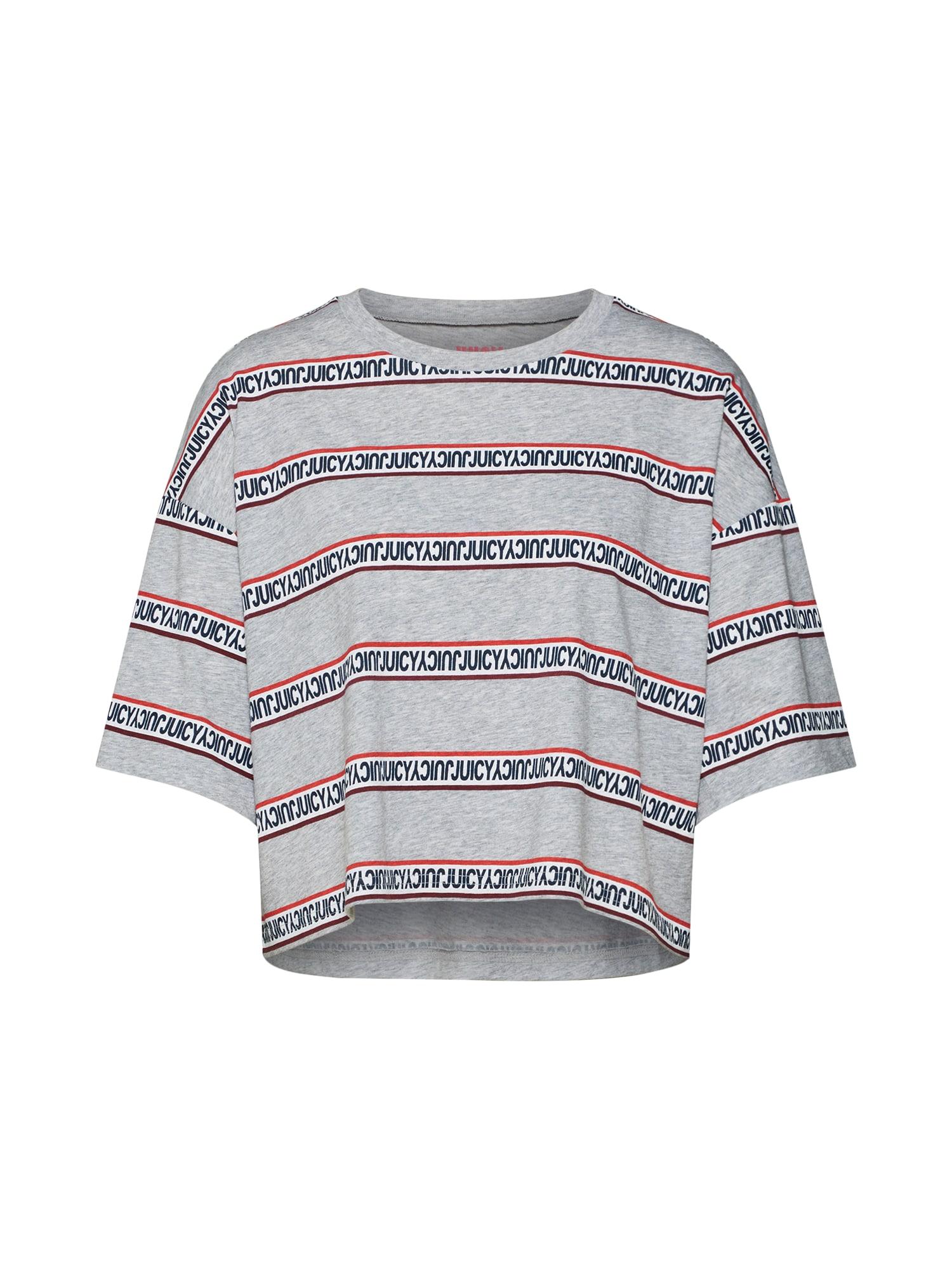 Tričko šedá ohnivá červená Juicy By Juicy Couture