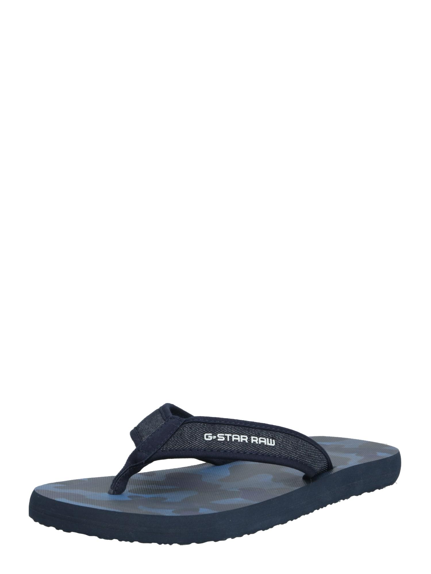 G-Star RAW Sandalai / maudymosi batai 'Loaq AOP' tamsiai mėlyna