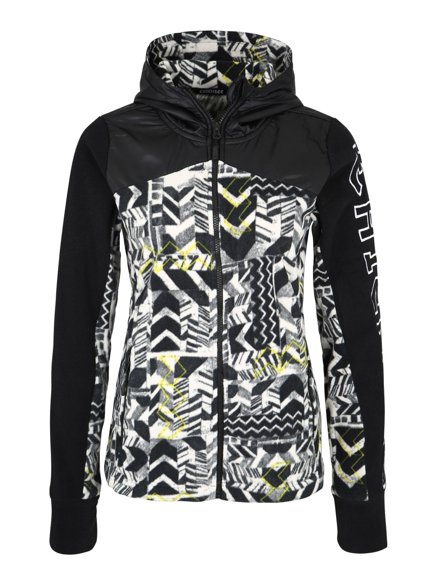 CHIEMSEE Sportinio tipo megztinis juoda / balta