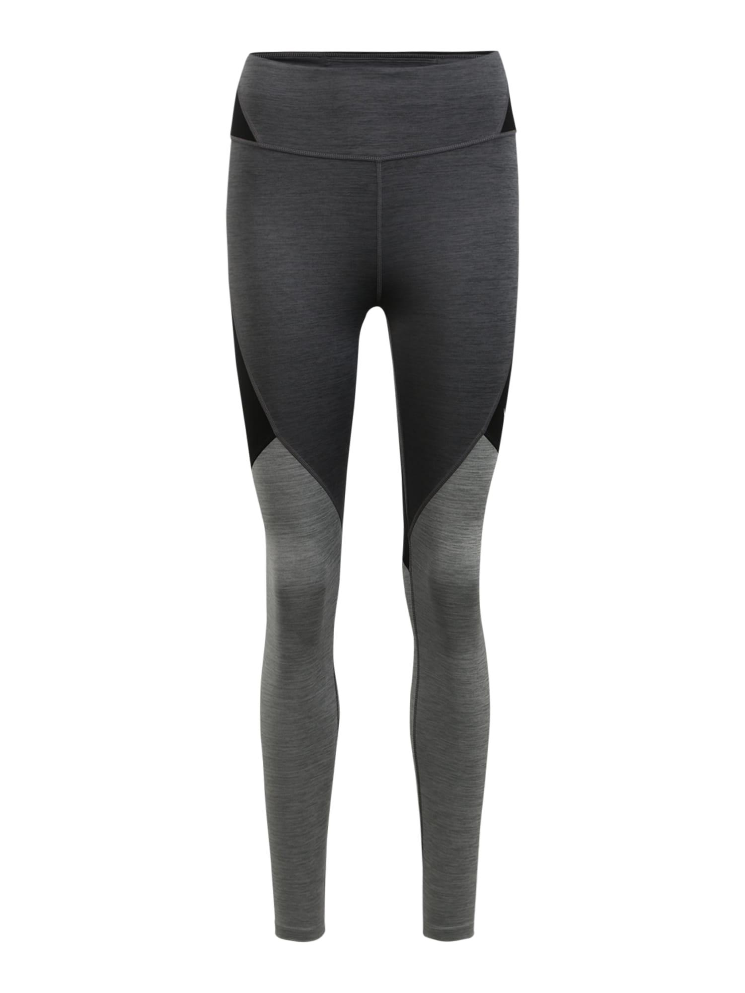 NIKE Sportovní kalhoty  černá / tmavě šedá