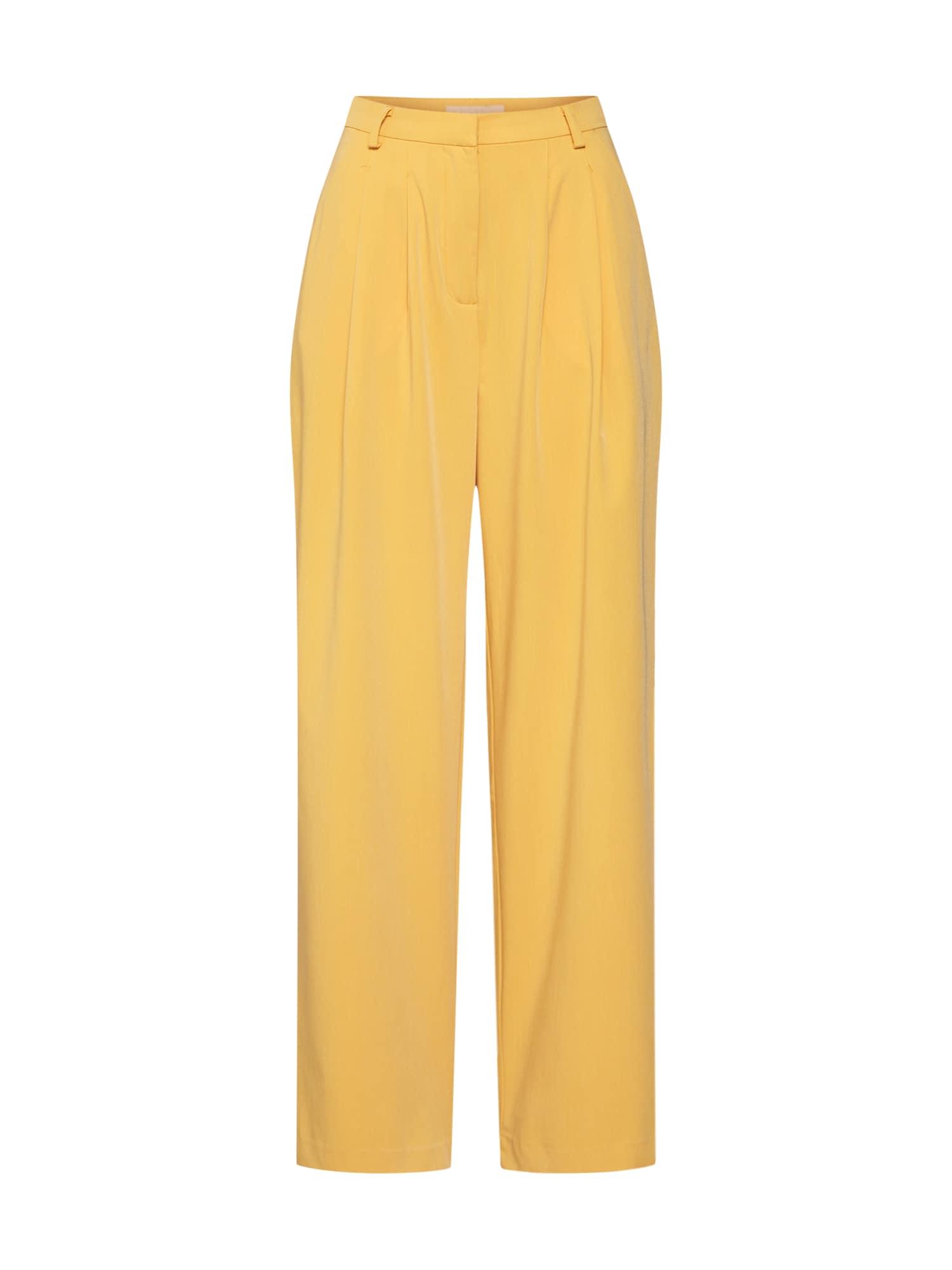 Soft Rebels Klostuotos kelnės 'Jamie' geltona