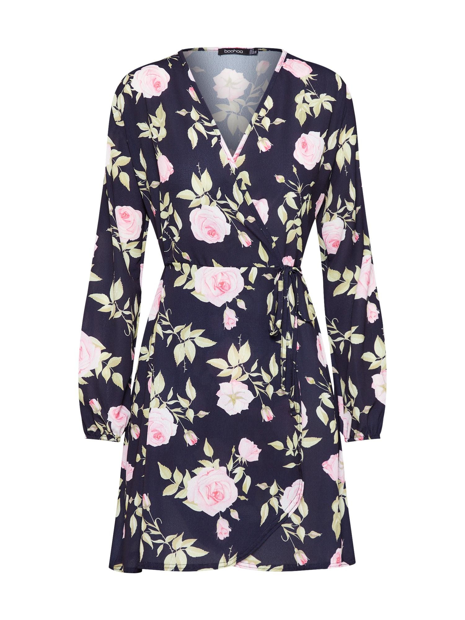Boohoo Vasarinė suknelė rožių spalva / juoda