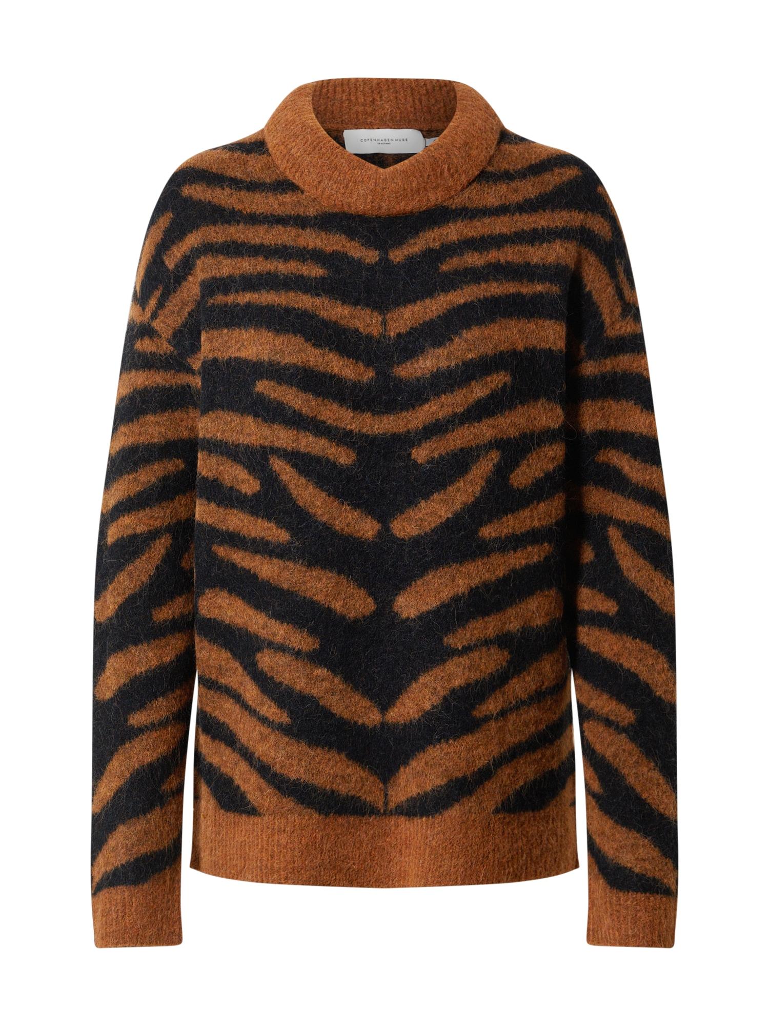 Copenhagen Muse Megztinis juoda / ruda