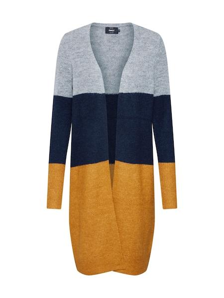 Jacken für Frauen - Cardigan 'Meredith' › ONLY › navy goldgelb graumeliert  - Onlineshop ABOUT YOU