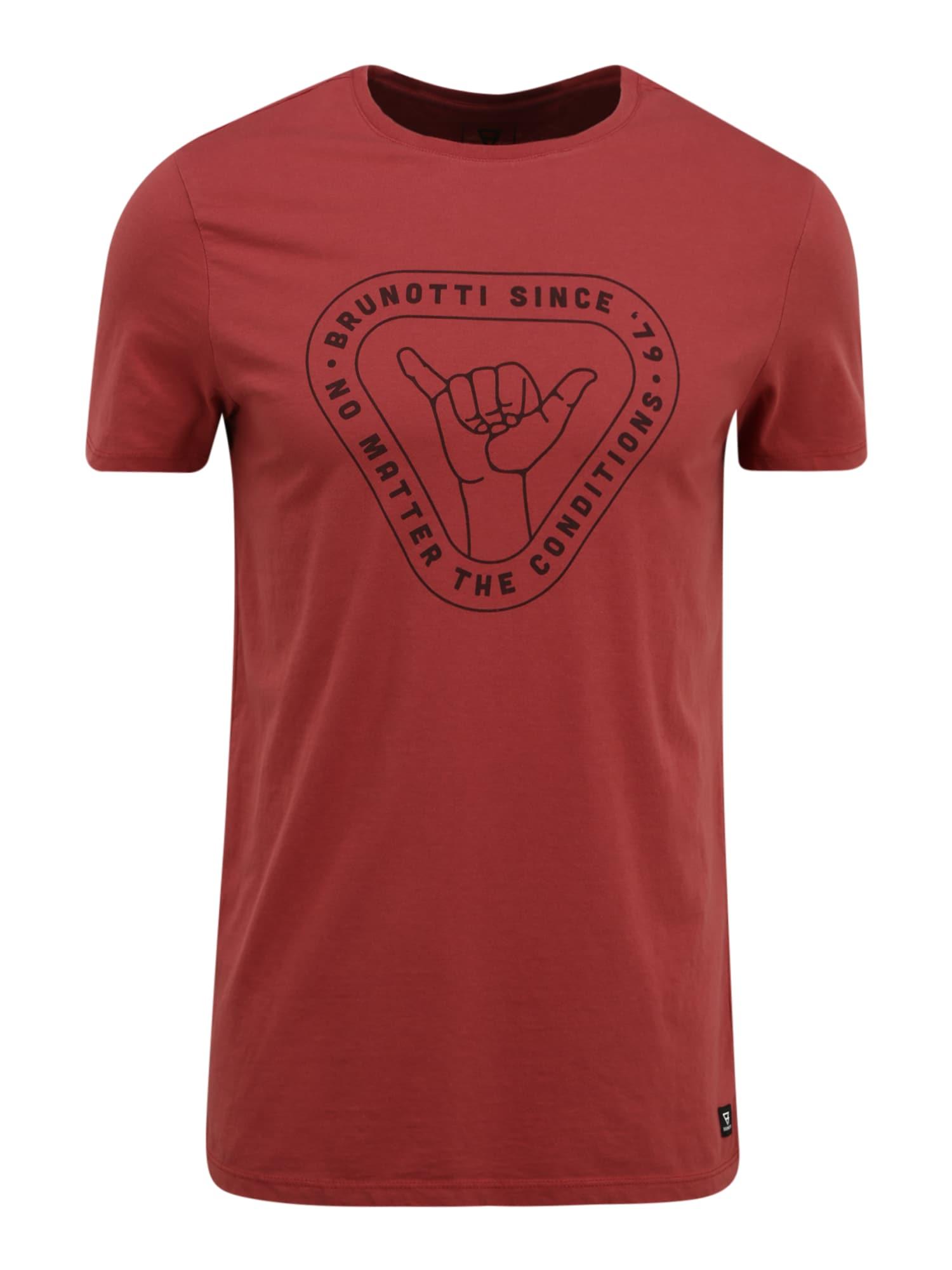 BRUNOTTI Funkčné tričko 'Tim'  vínovo červená / čierna