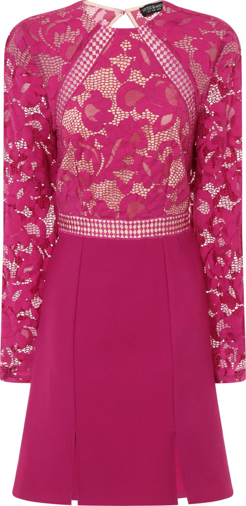little mistress kleid 39 raspberry lace panel shift 39 in pink. Black Bedroom Furniture Sets. Home Design Ideas