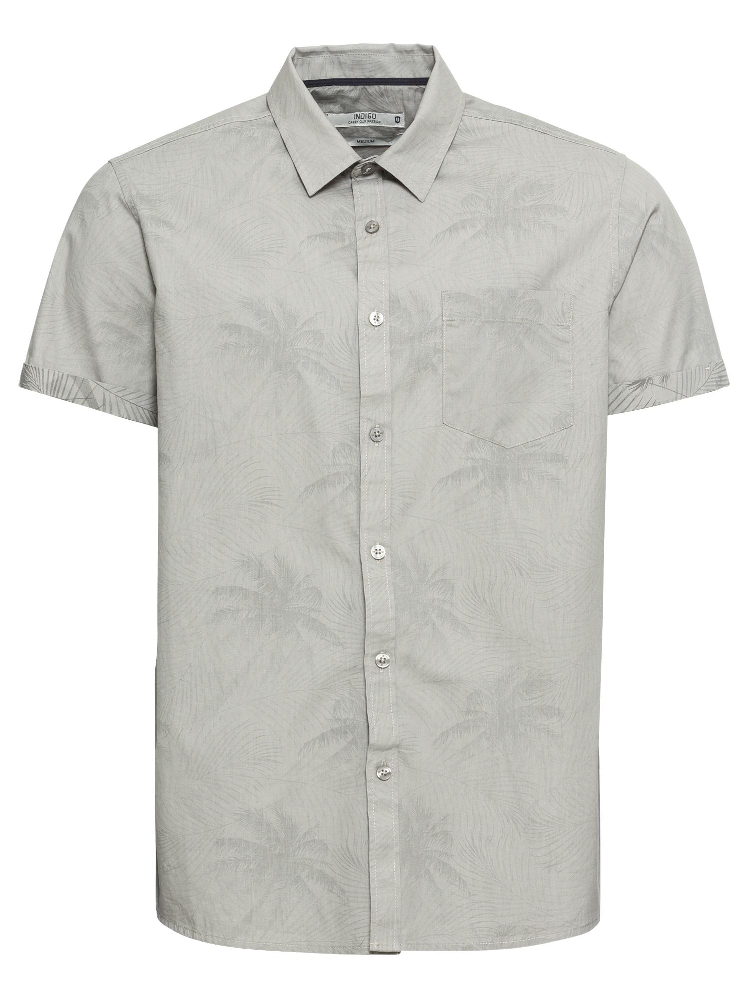 Košile Massingham světle šedá INDICODE JEANS