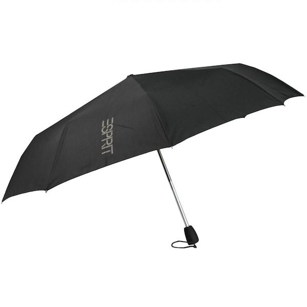 Regenschirme für Frauen - ESPRIT Gents Mini Tecmatic Taschenschirm 28 cm schwarz  - Onlineshop ABOUT YOU