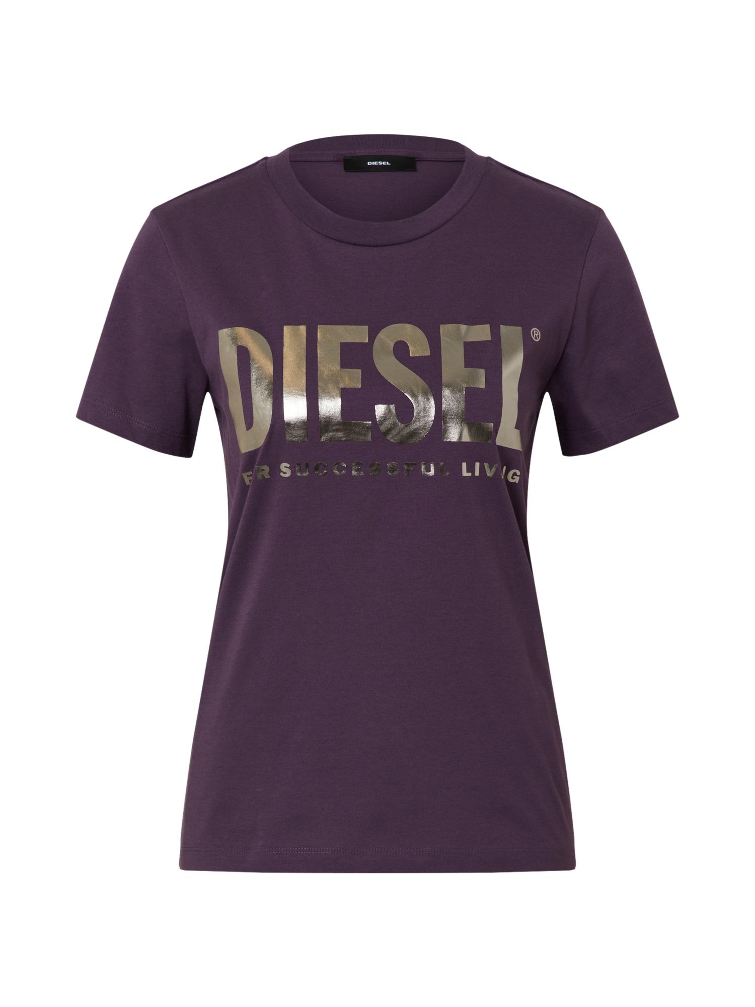 DIESEL Marškinėliai purpurinė