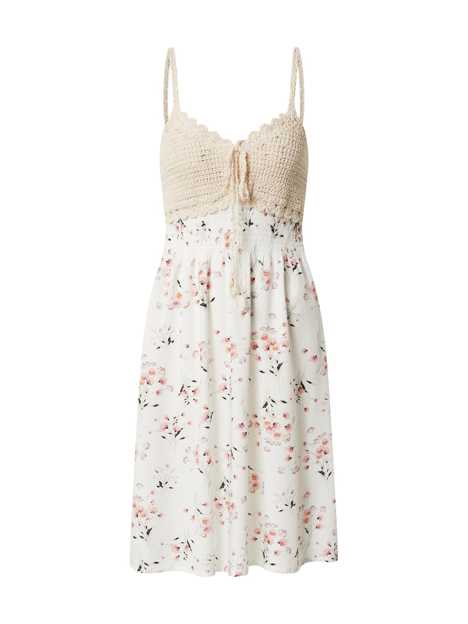 Hailys Letné šaty 'Kana'  biela / zmiešané farby