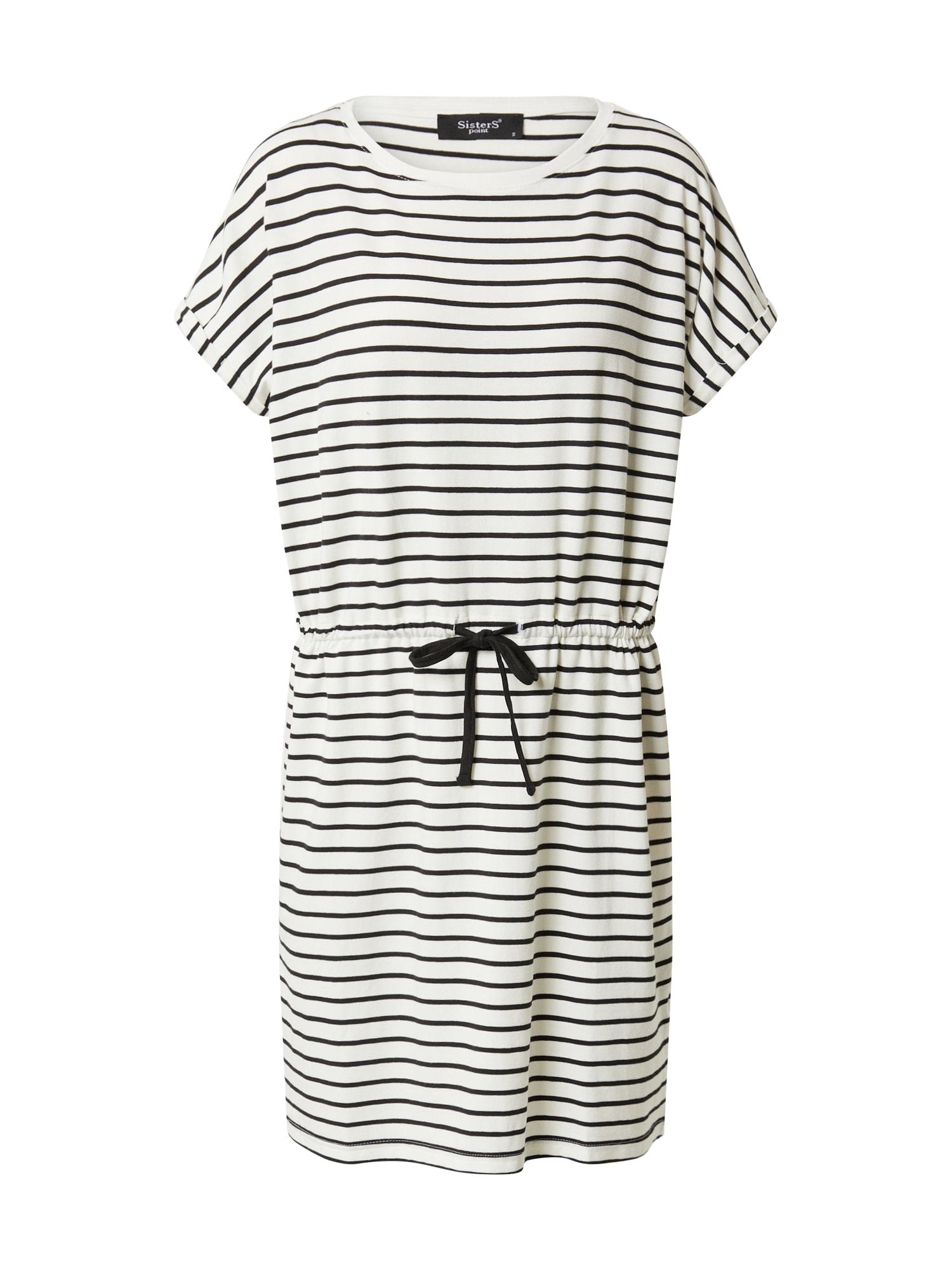 SISTERS POINT Letné šaty 'HANA'  čierna / krémová