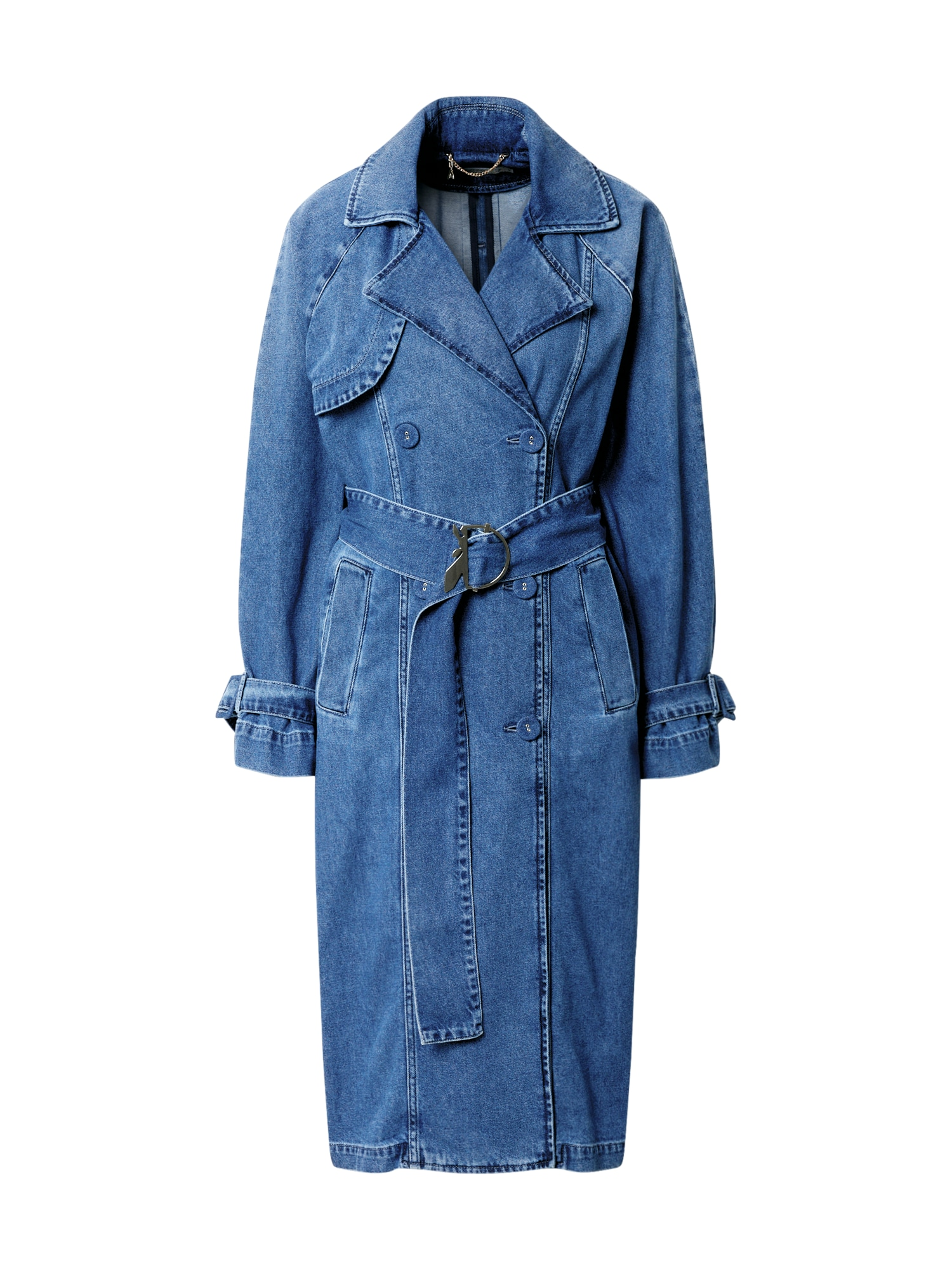 PATRIZIA PEPE Demisezoninis paltas tamsiai (džinso) mėlyna