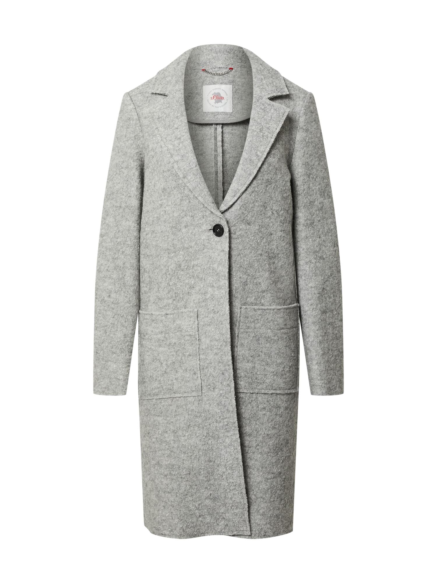 s.Oliver Přechodný kabát  šedý melír