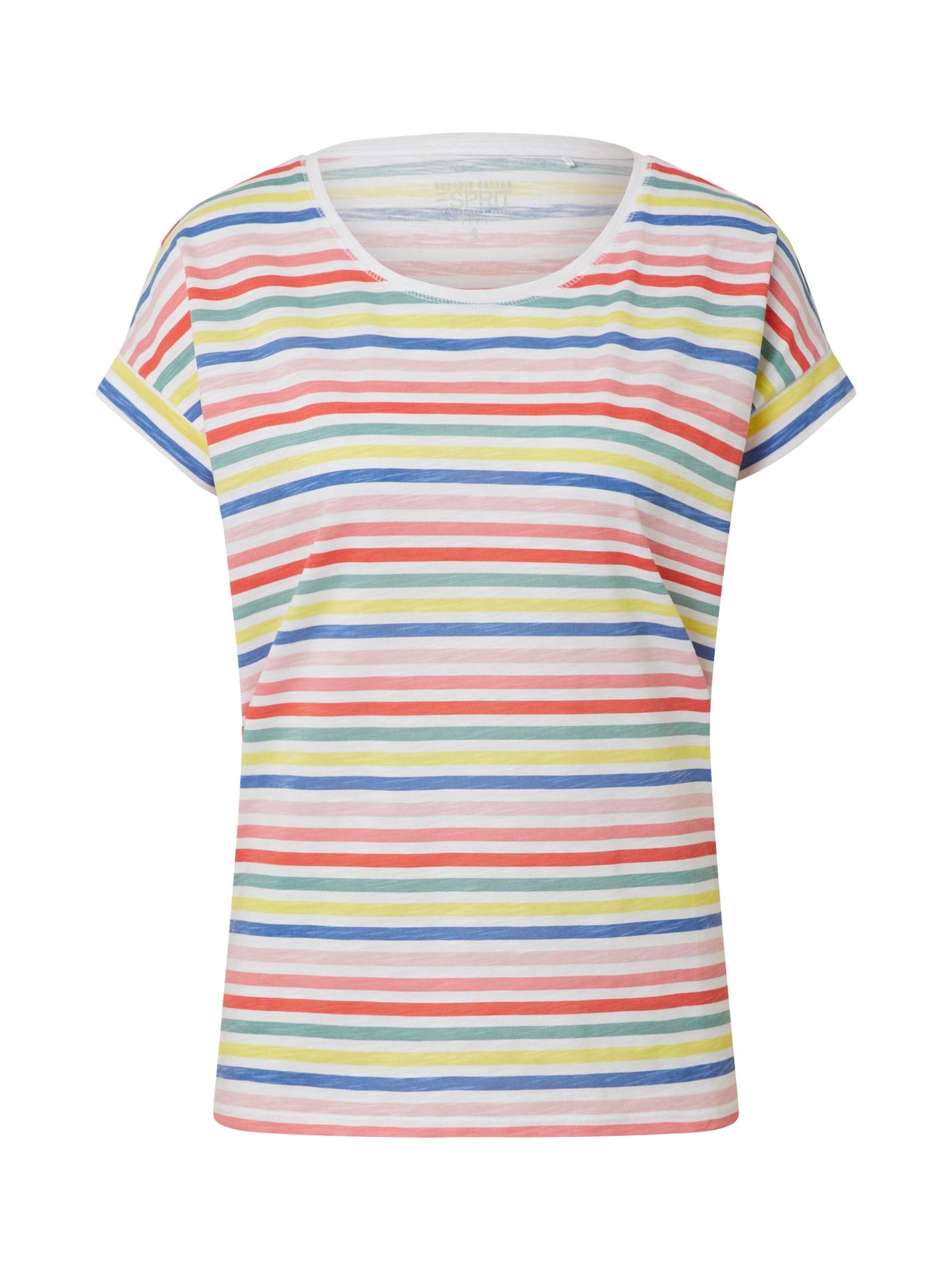 ESPRIT Marškinėliai balta / raudona / mėlyna / žalia