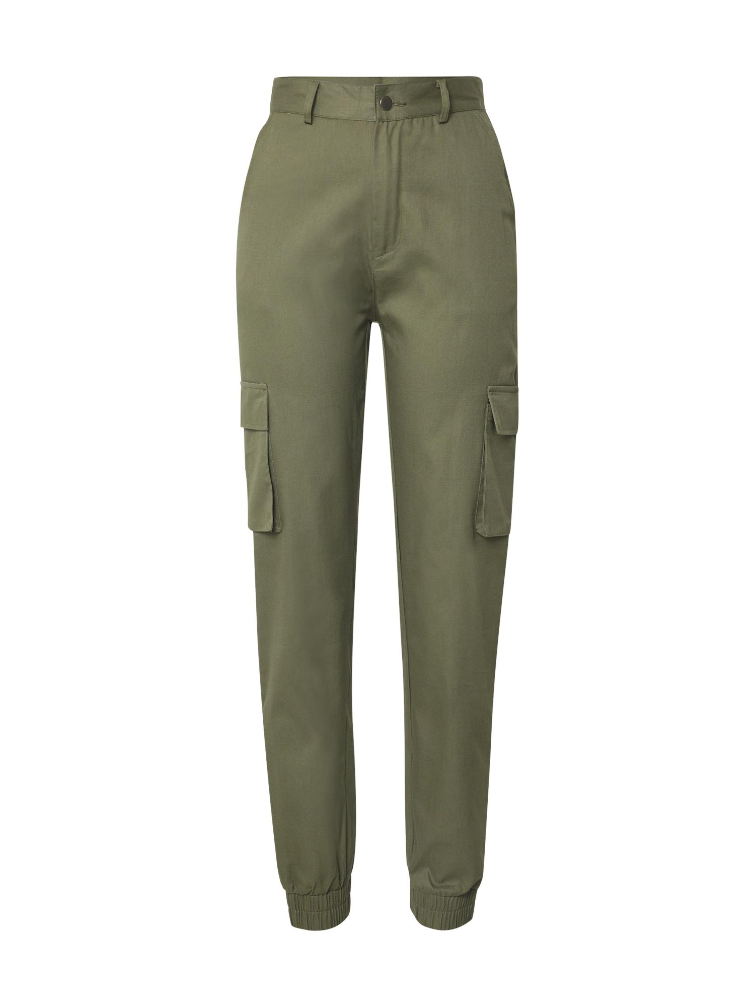 Missguided Laisvo stiliaus kelnės rusvai žalia