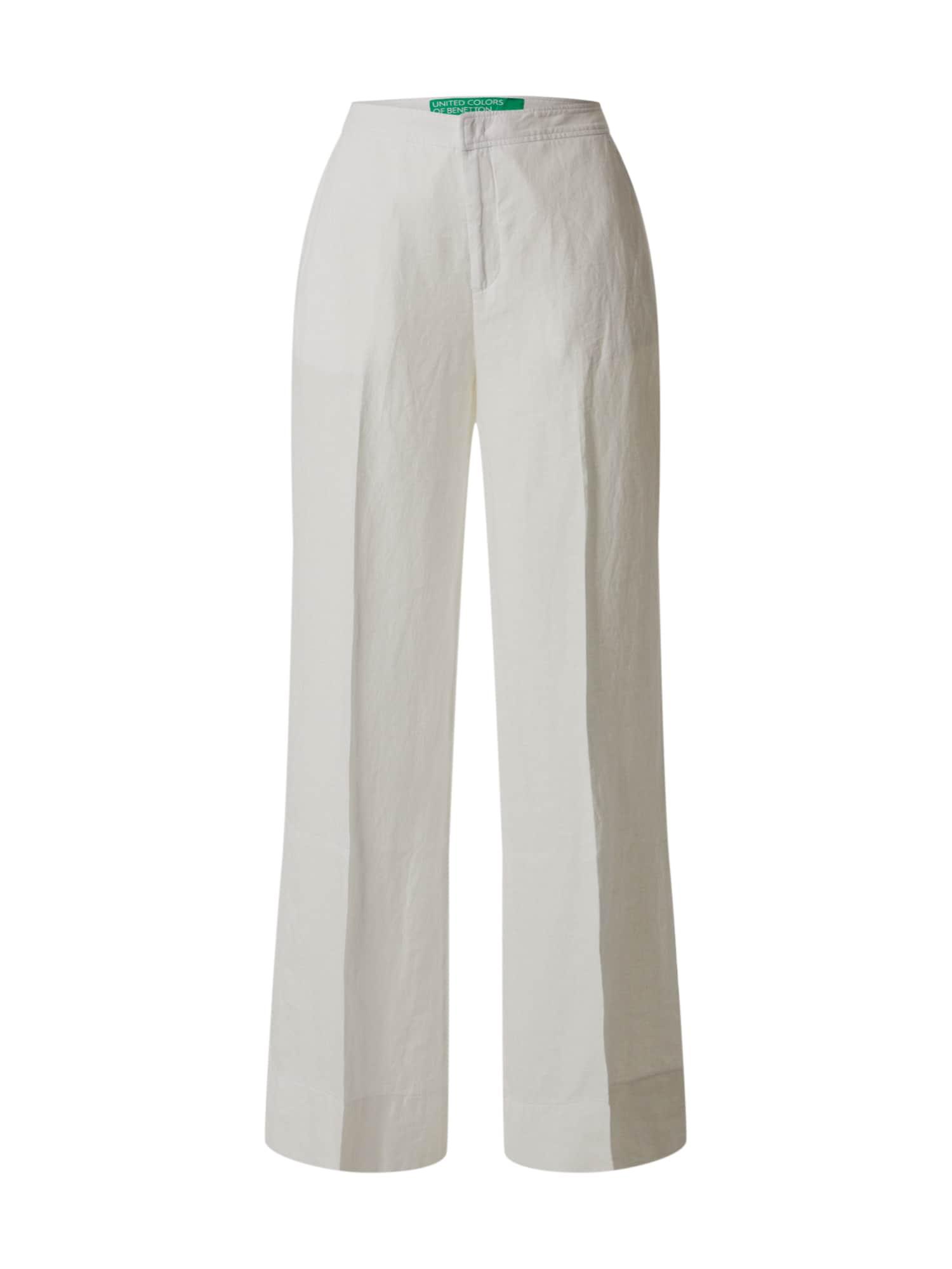 UNITED COLORS OF BENETTON Kelnės su kantu balta