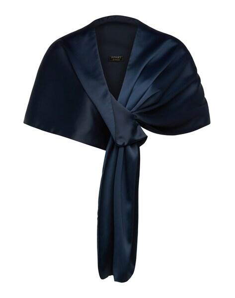 Schals für Frauen - APART Satin Stola mit verschiedenen Tragevarianten nachtblau  - Onlineshop ABOUT YOU