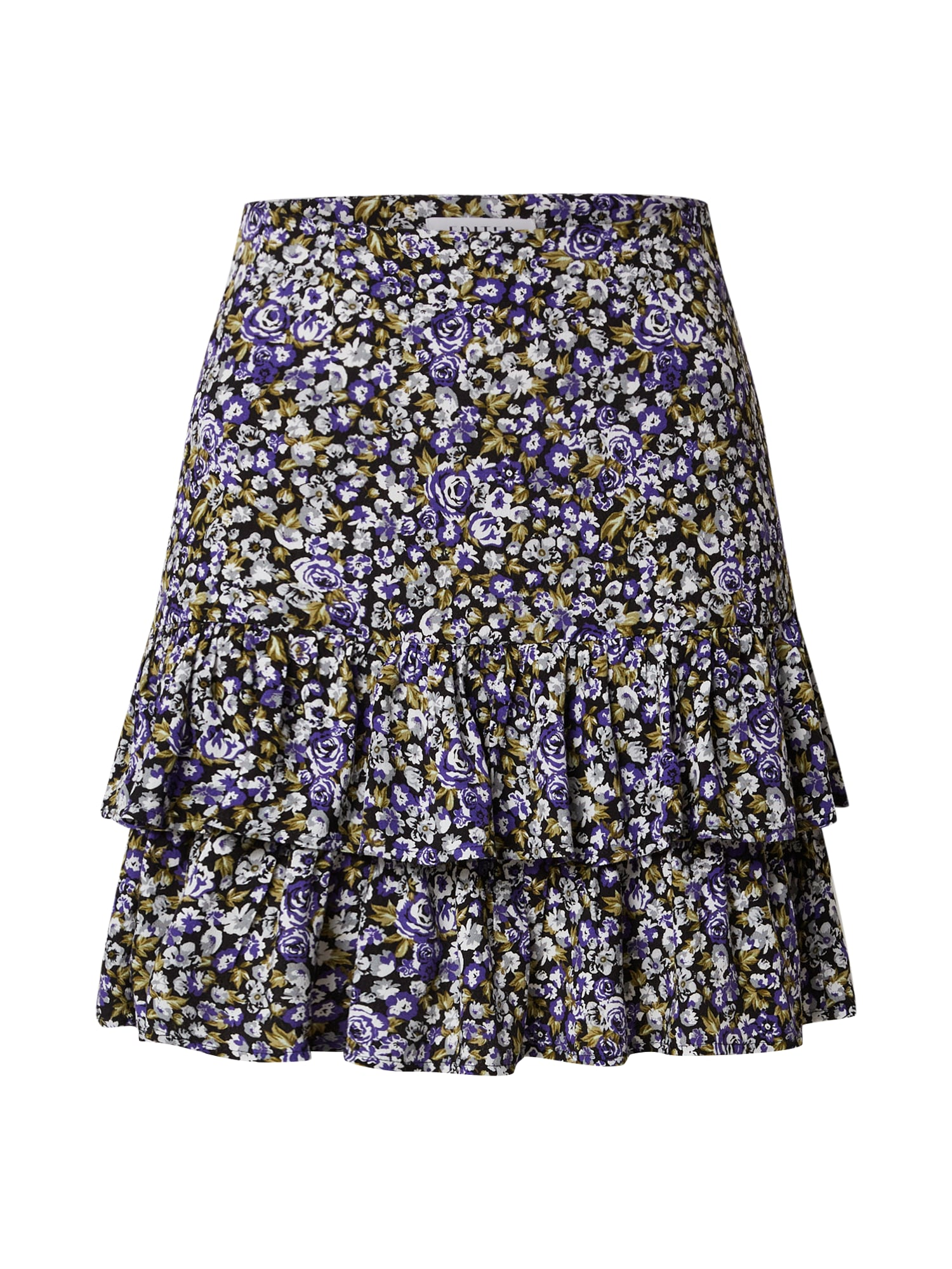 EDITED Sijonas 'Gwen' mišrios spalvos / tamsiai violetinė / ruda / smėlio / juoda