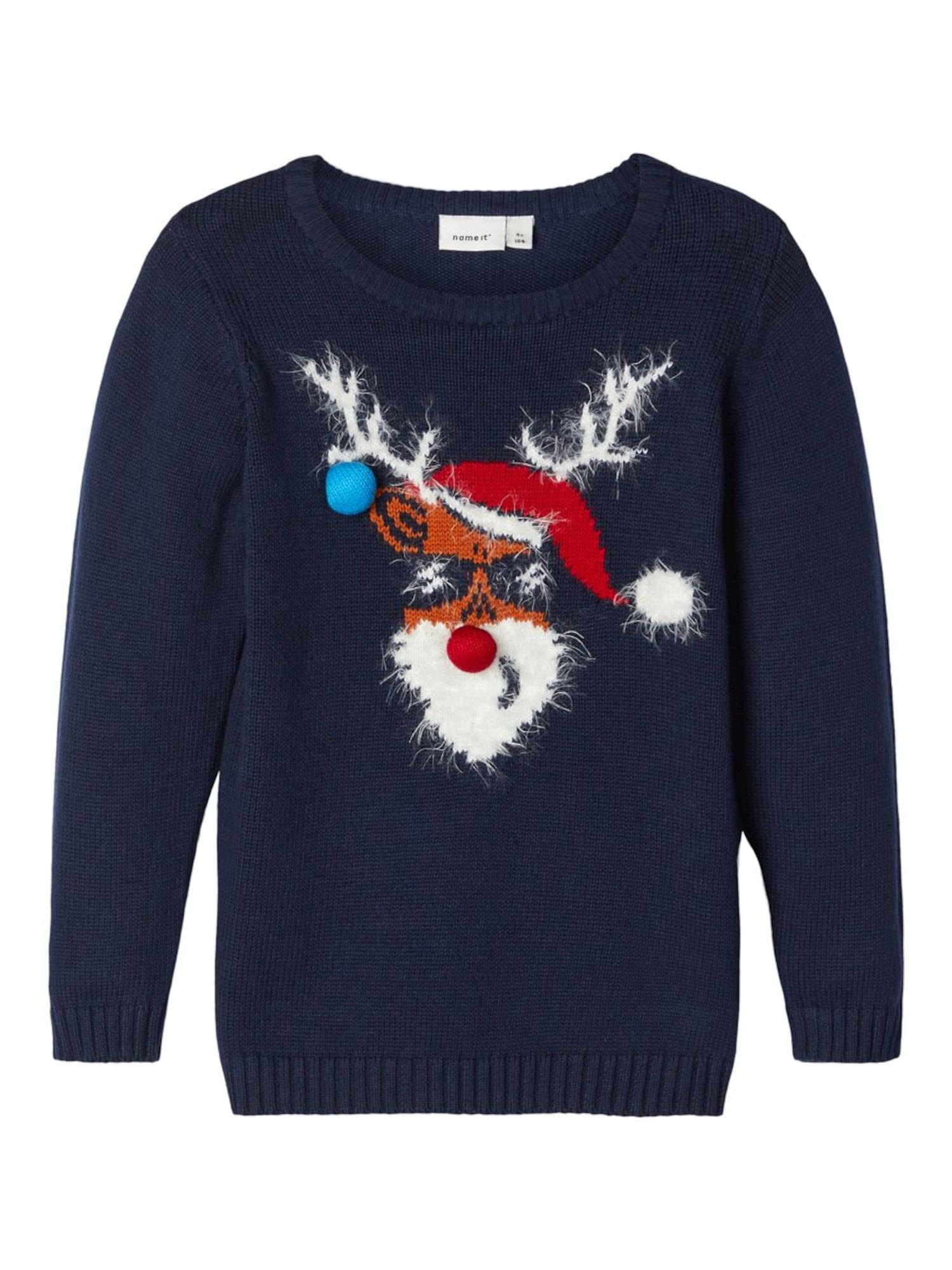 NAME IT Megztinis tamsiai mėlyna
