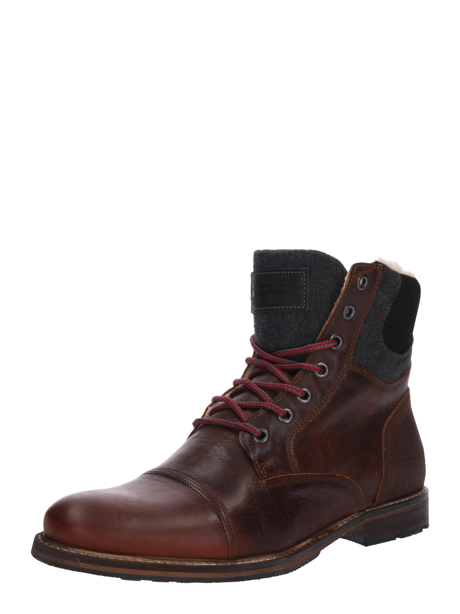 BULLBOXER Auliniai batai su raišteliais rusva / tamsiai pilka