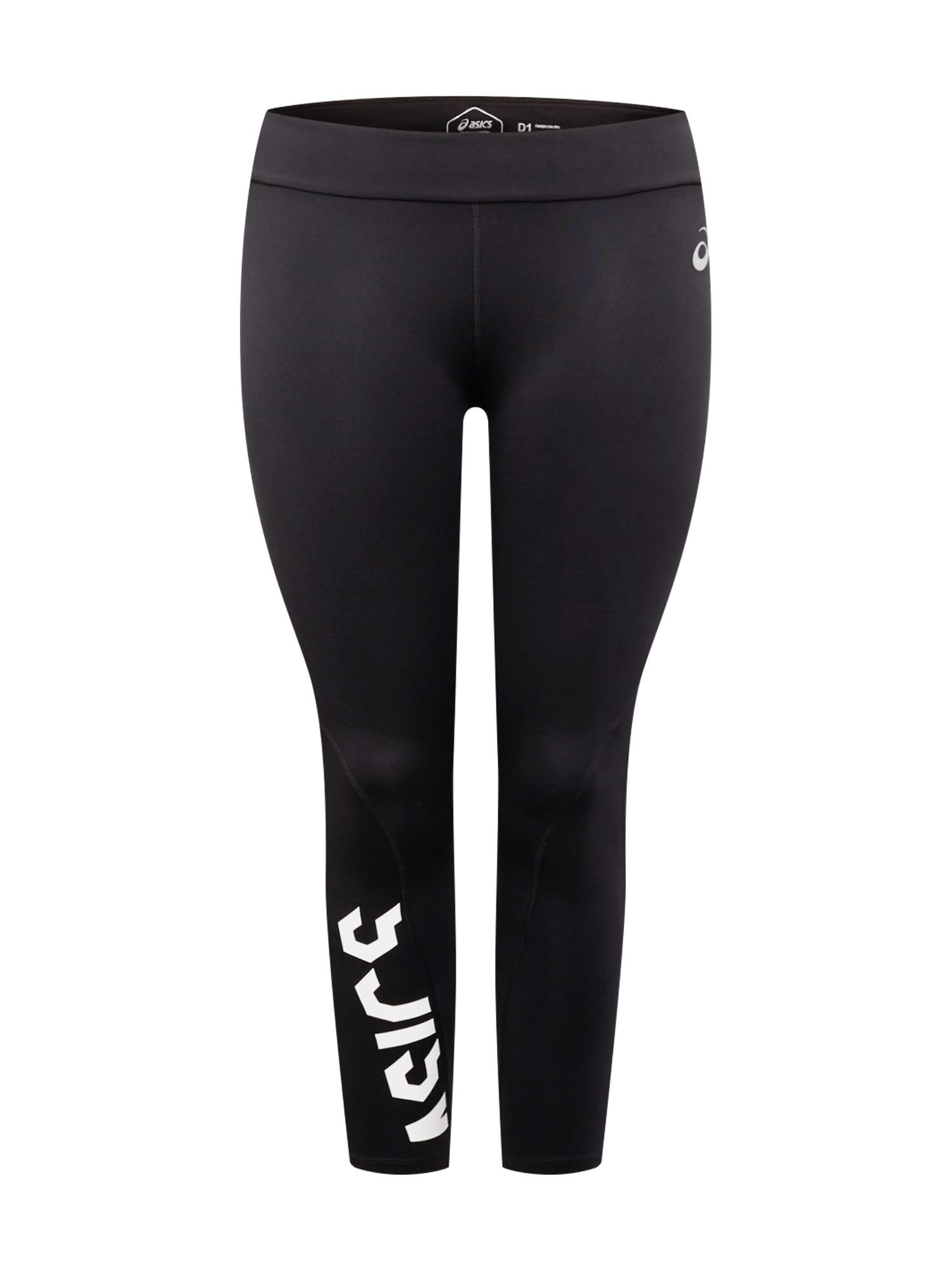 ASICS Športové nohavice 'ESNT'  čierna / biela