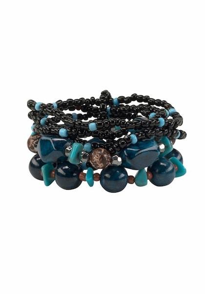 Armbaender für Frauen - J. Jayz Armband Set blau türkis schwarz  - Onlineshop ABOUT YOU