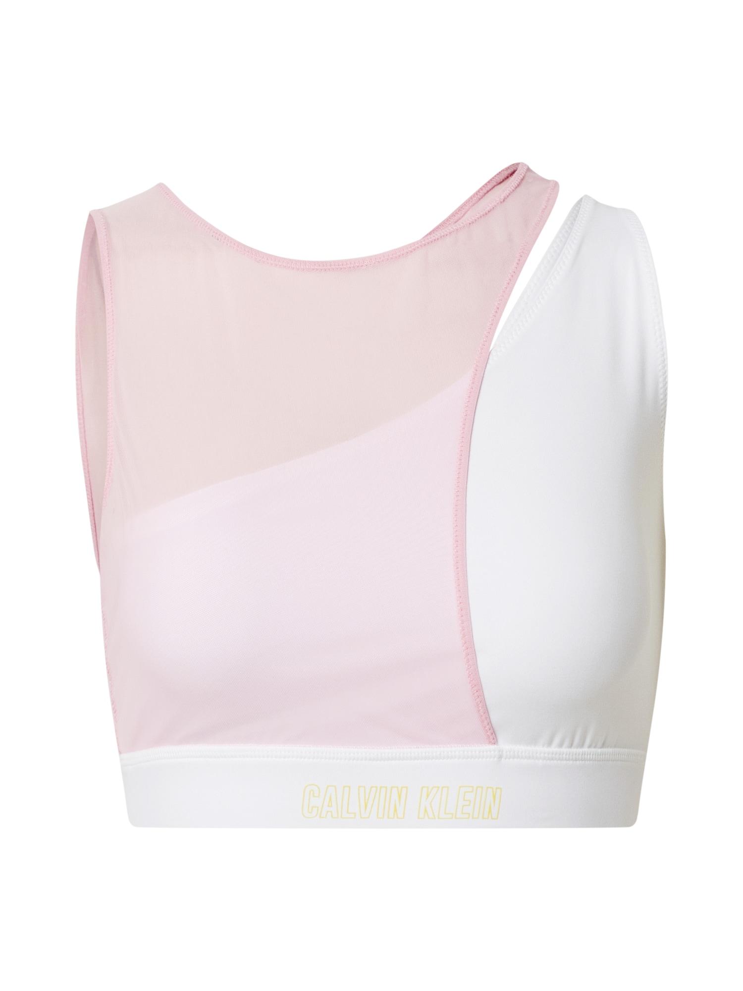 Calvin Klein Performance Sportinė liemenėlė balkšva / pastelinė rožinė / auksas