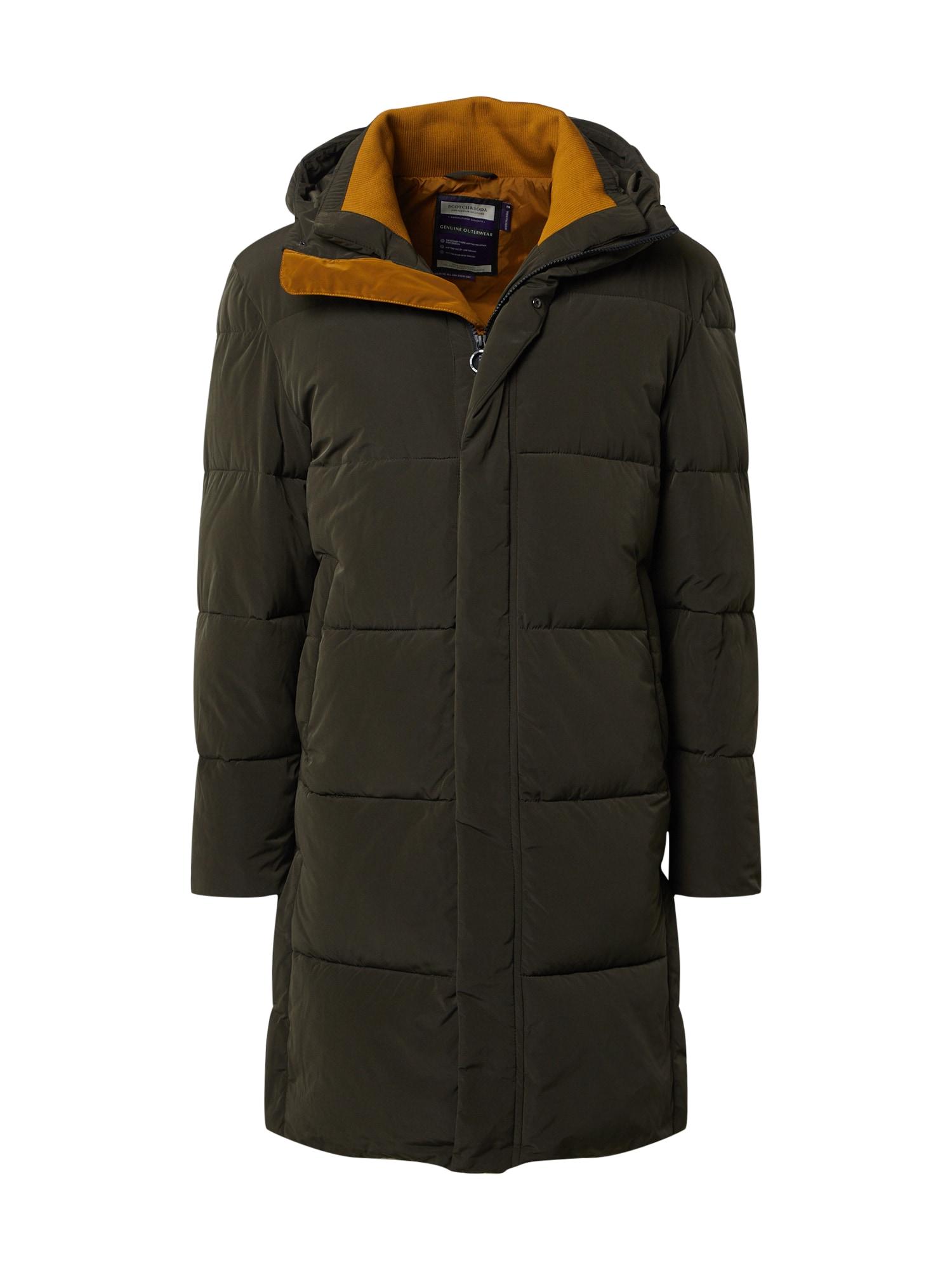 SCOTCH & SODA Žieminis paltas rusvai žalia