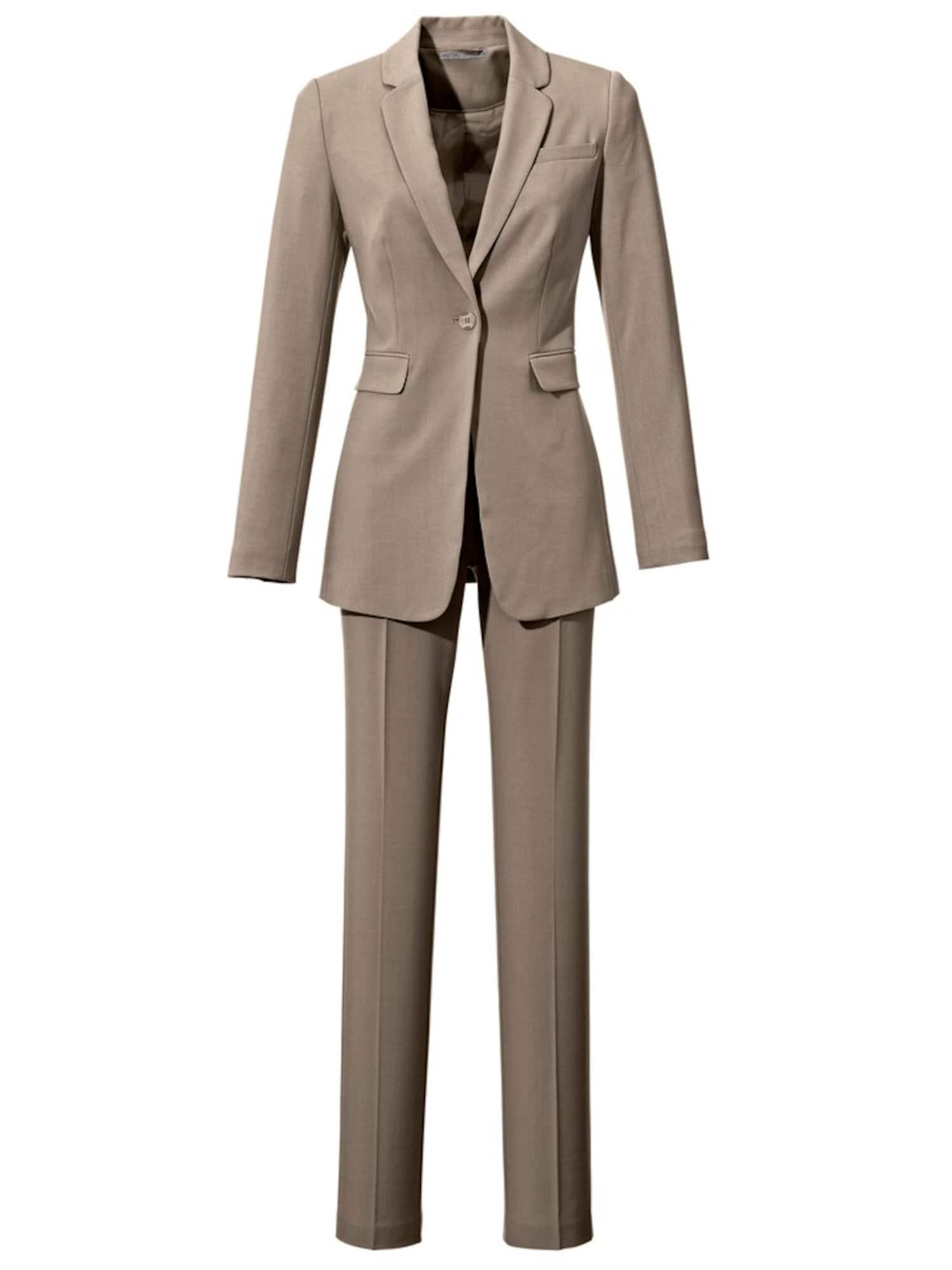 heine Moteriškas kostiumėlis su kelnėmis tamsi smėlio