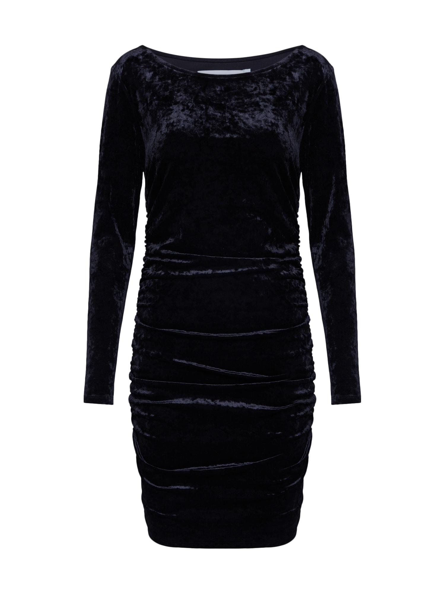 IVYREVEL Trumpa kokteilinė suknelė juoda
