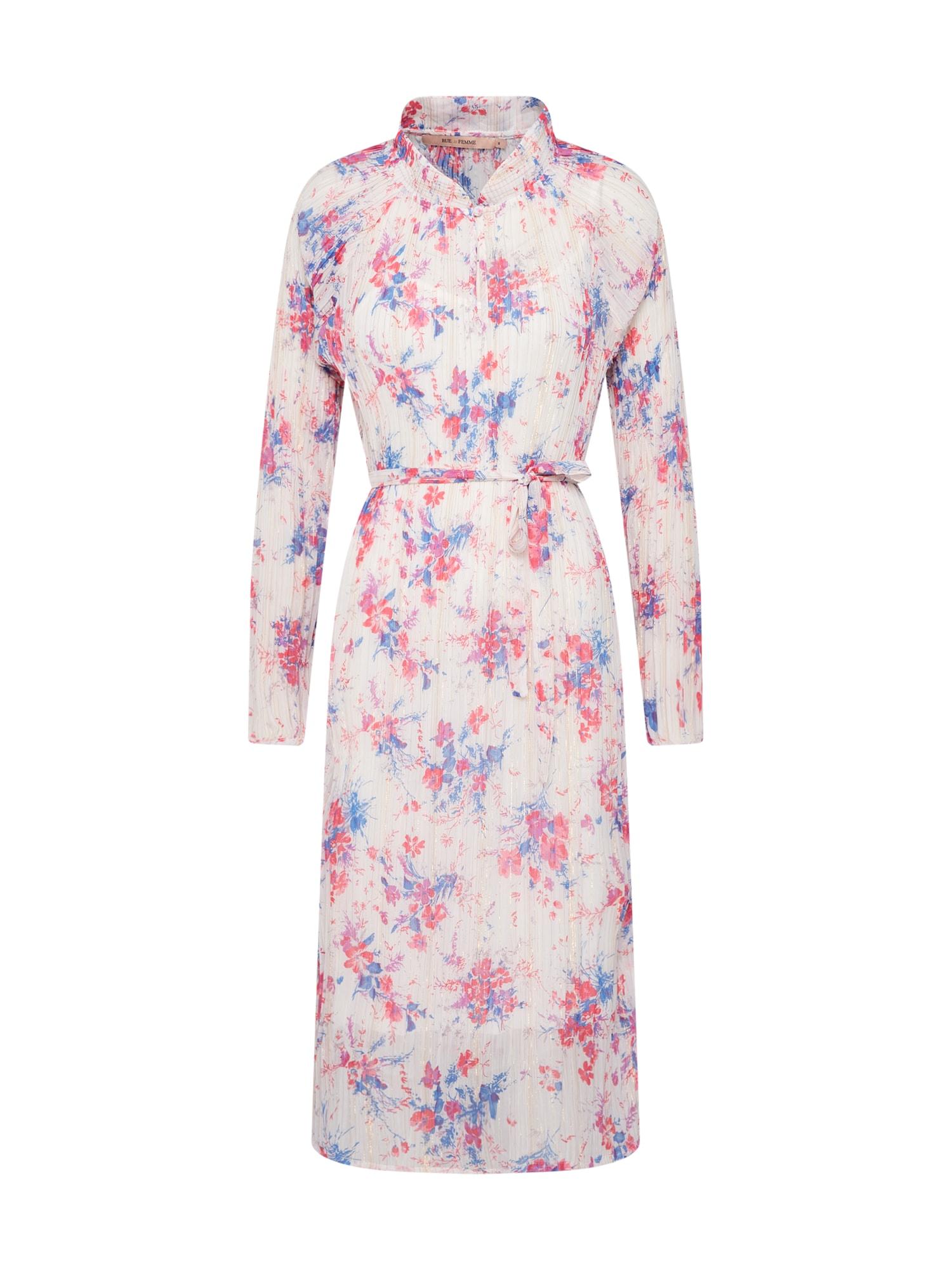 Šaty New Millie béžová modrá pink RUE De FEMME