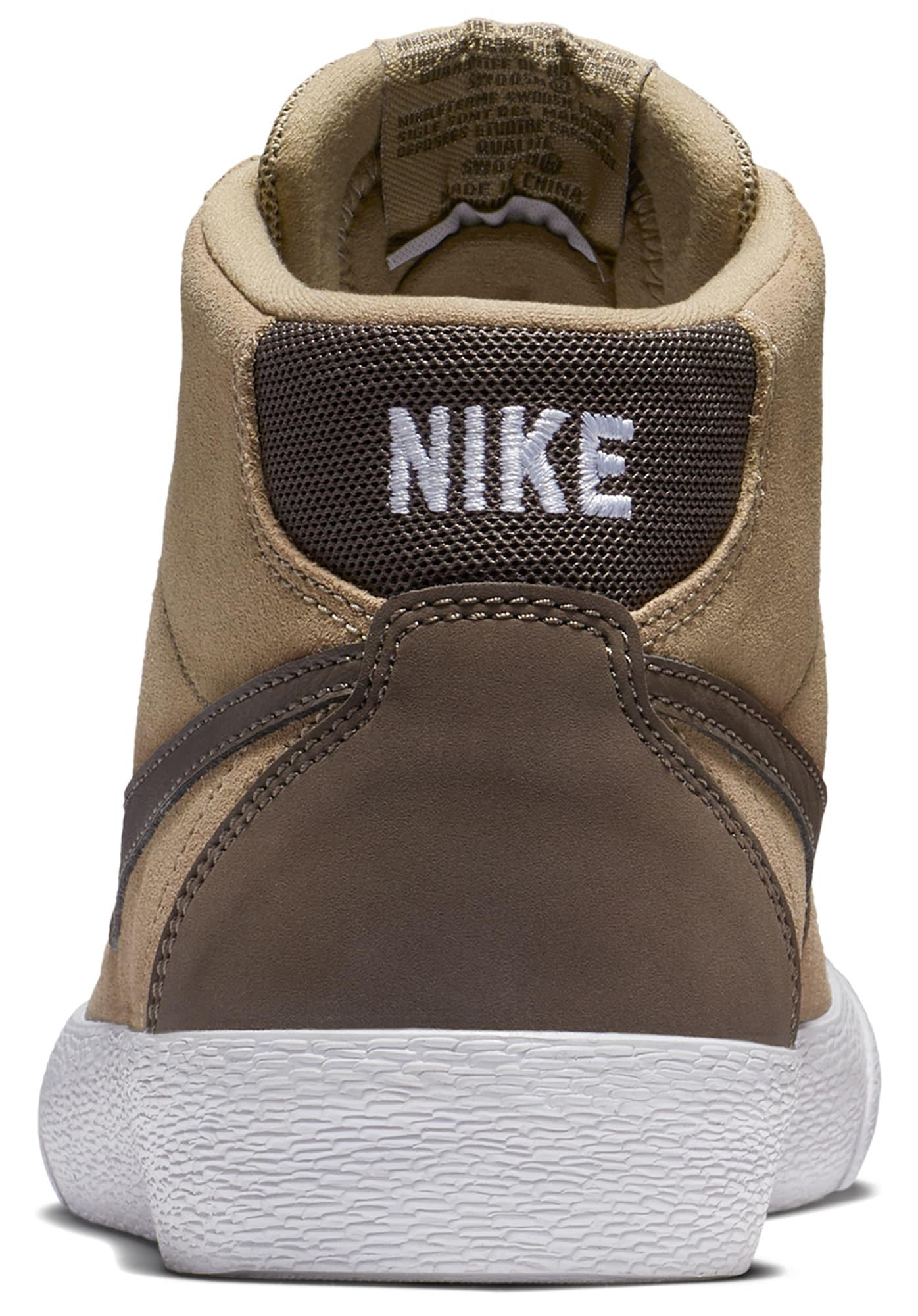 Nike SB, Damen Sneakers hoog Bruin Hi, donkerbeige / bruin