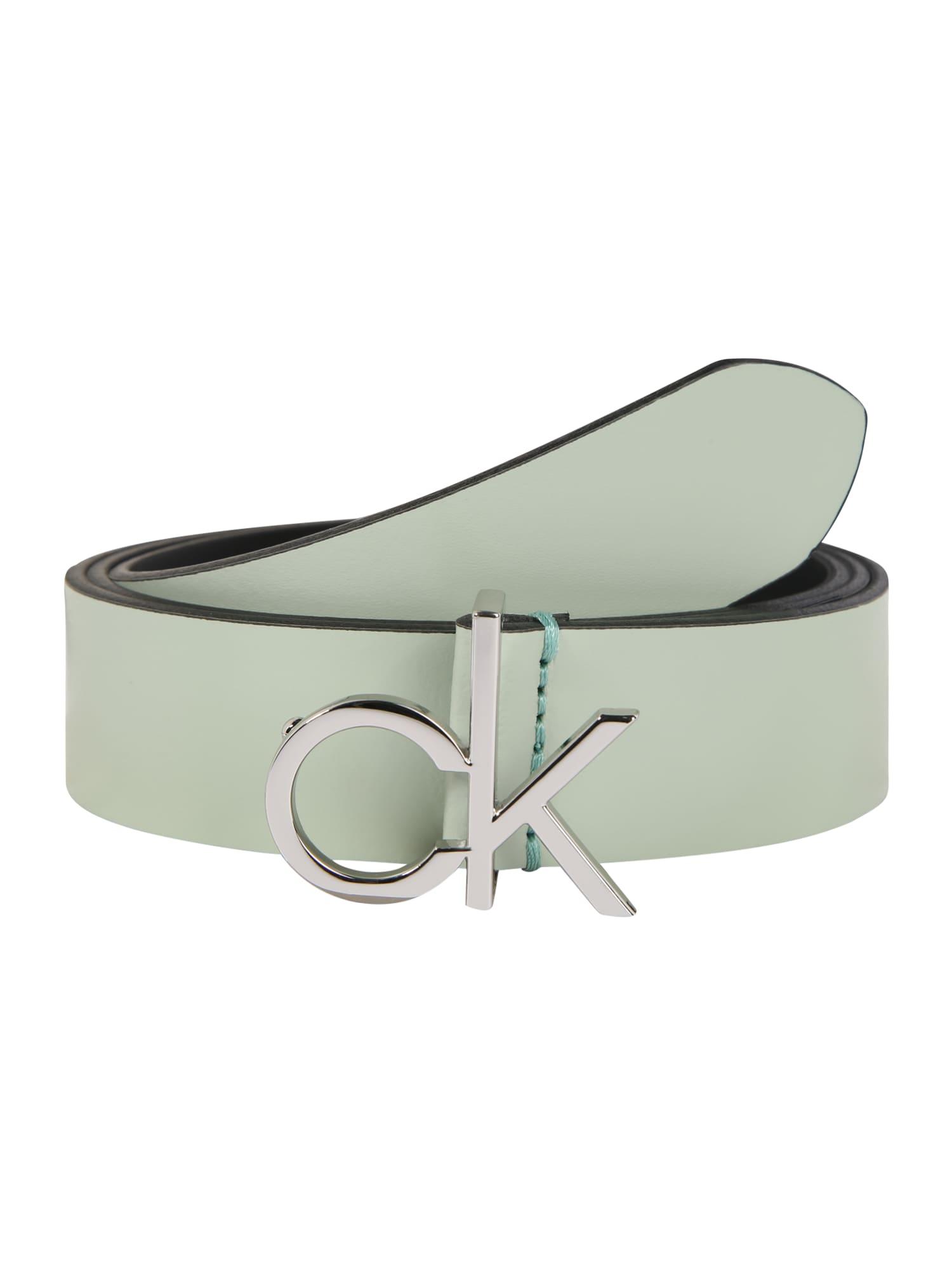 Calvin Klein Diržas 'RE-LOCK LOW 3CM FIXED' žalia
