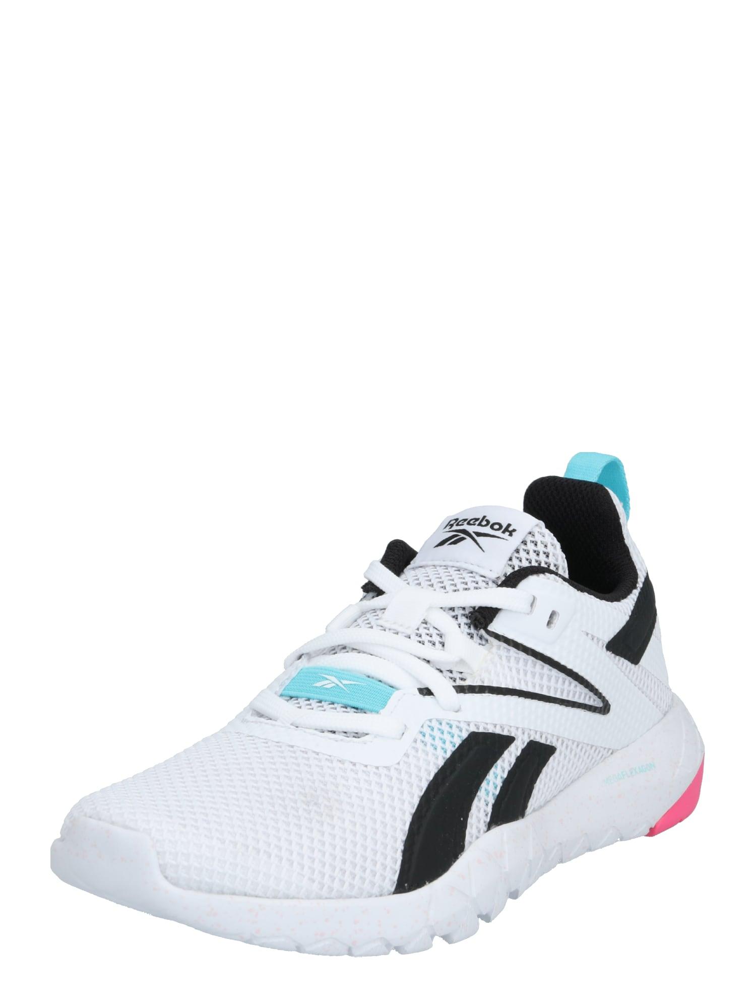 REEBOK Sportiniai batai juoda / balta / turkio spalva