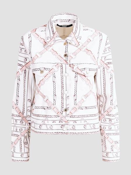 Jacken für Frauen - GUESS Jacke rosa weiß  - Onlineshop ABOUT YOU